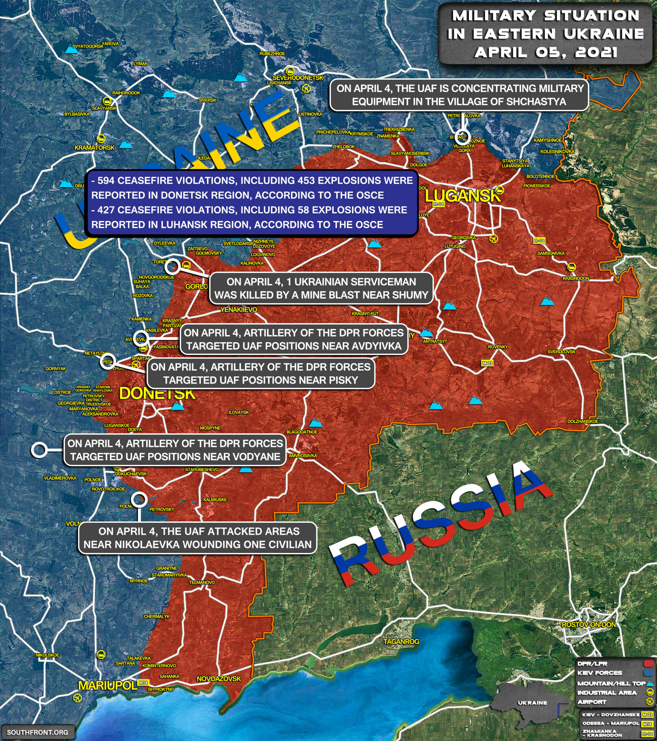 Kiev Continues On The War Path, Emboldened By False Promises. (Map Update)
