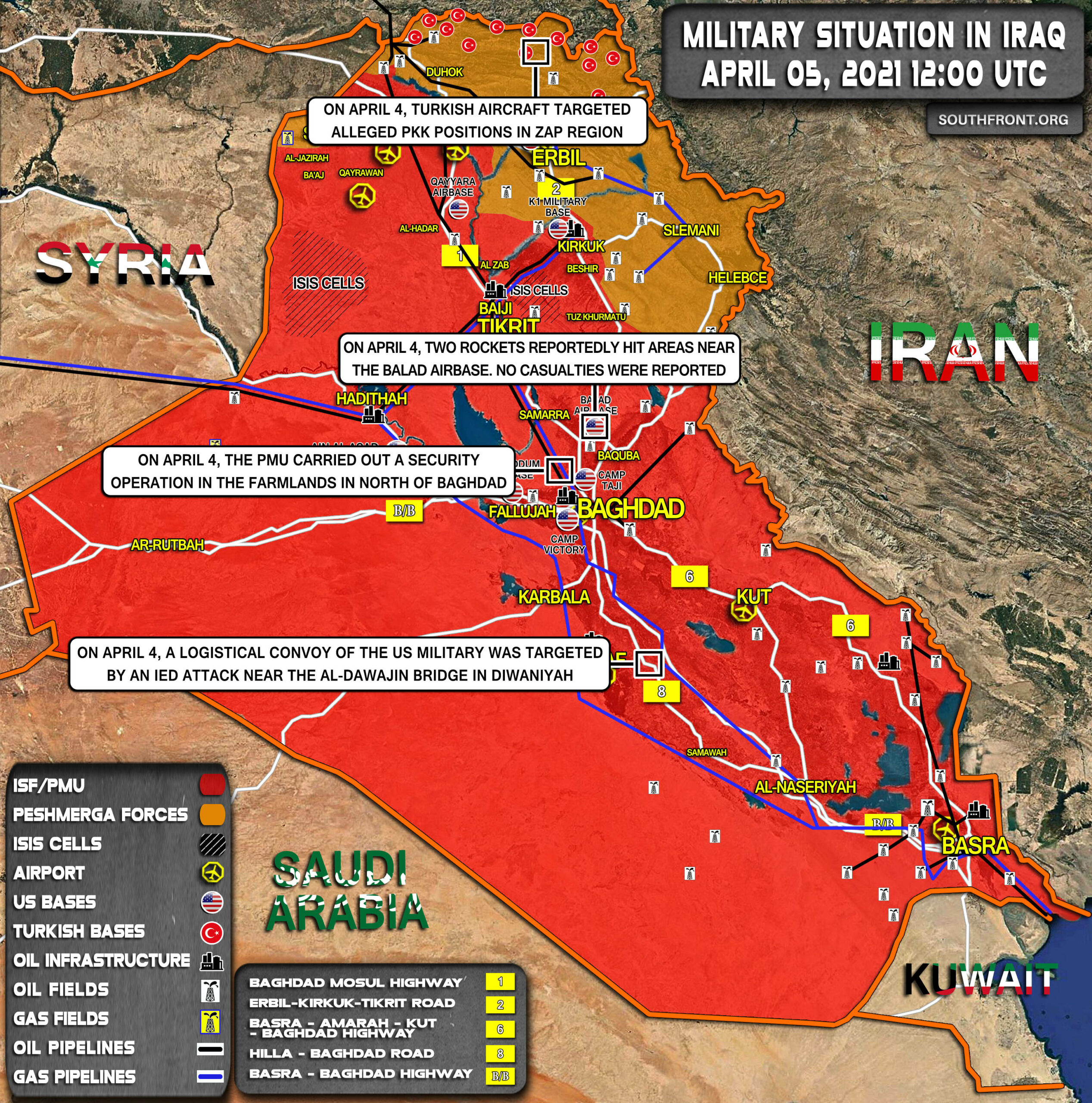 Military Situation In Iraq On April 5, 2021 (Map Update)