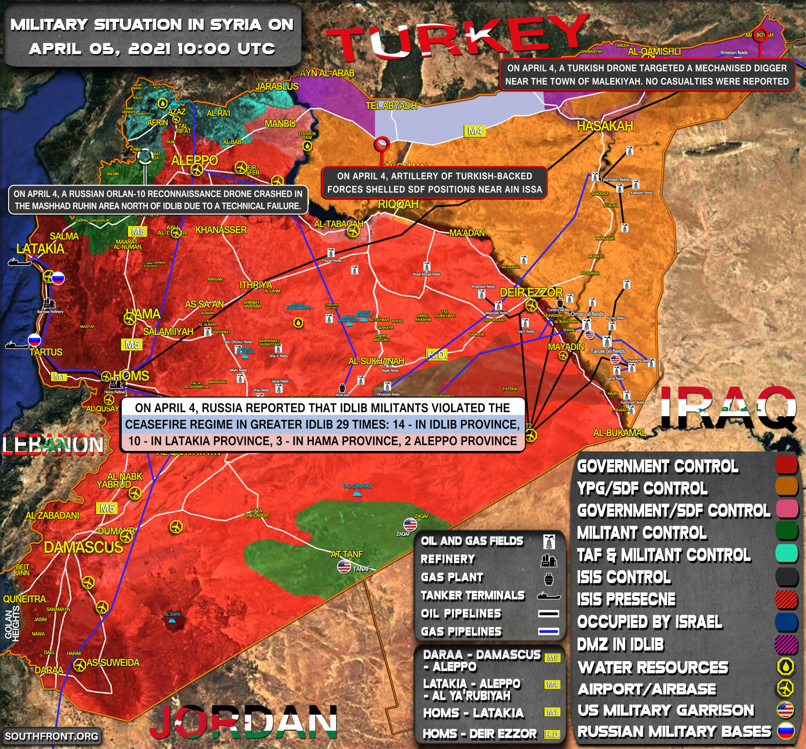 Military Situation In Syria On April 5, 2021 (Map Update)