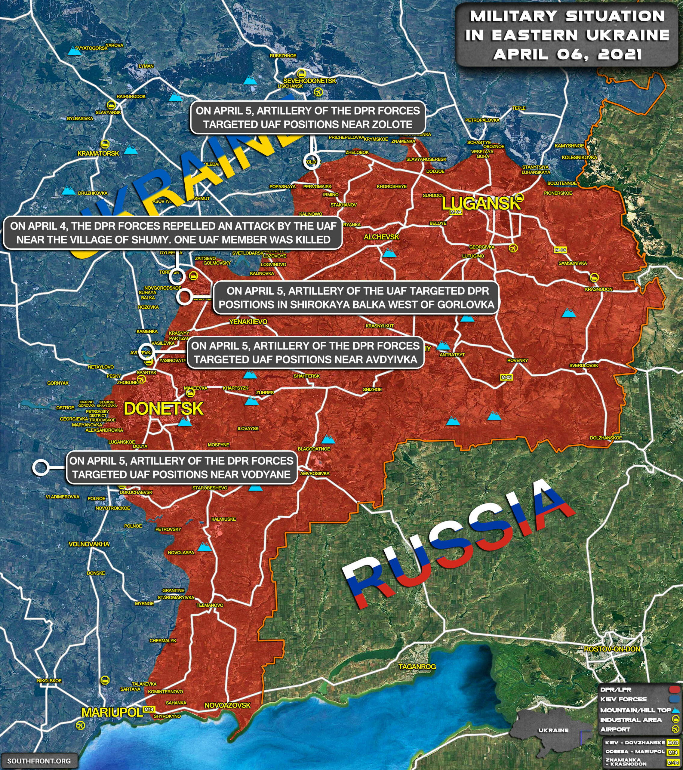 Military Situation In Eastern Ukraine On April 6, 2021 (Map Update)