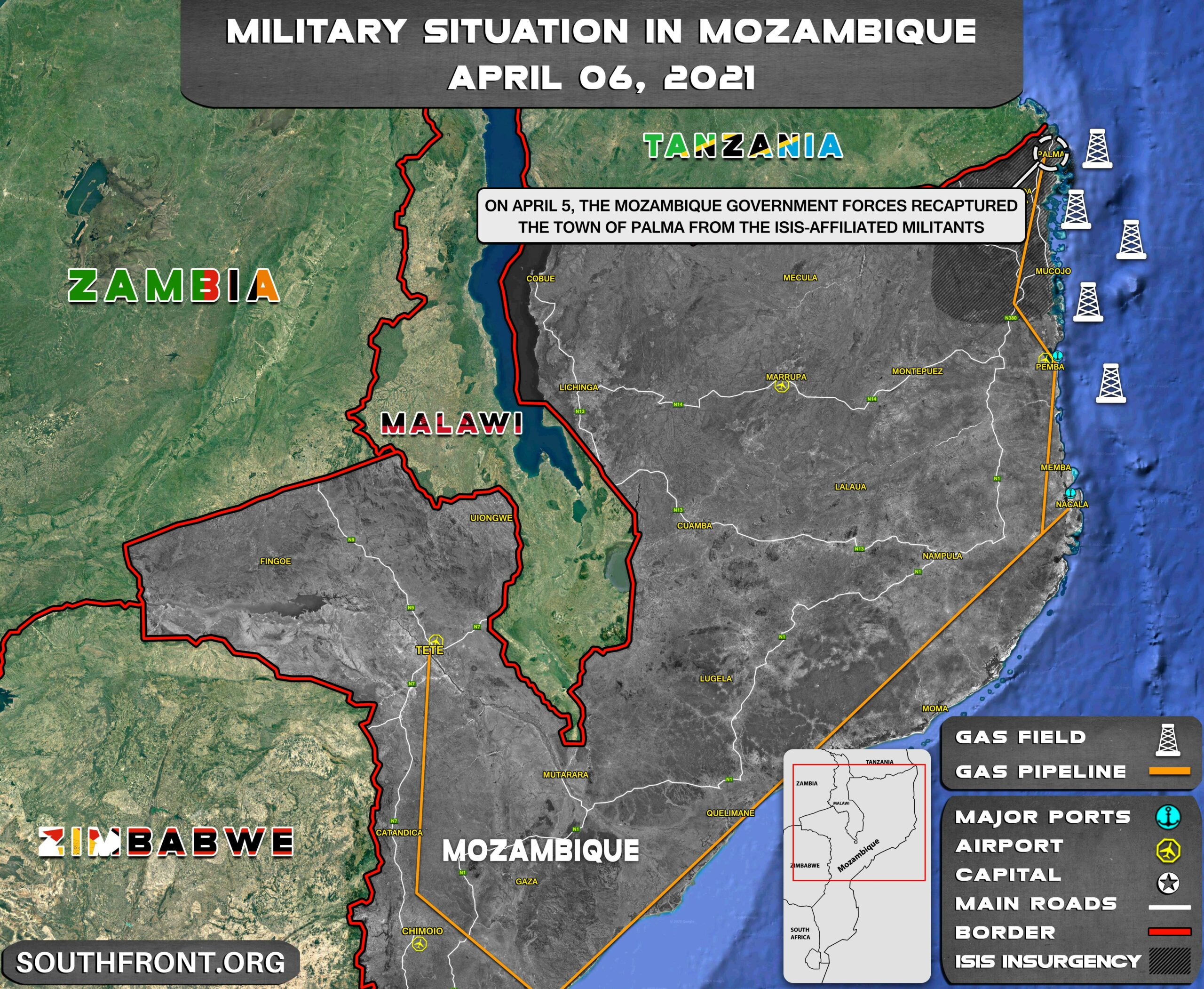 Mozambican Army Recaptures Palma From Al Shabaab