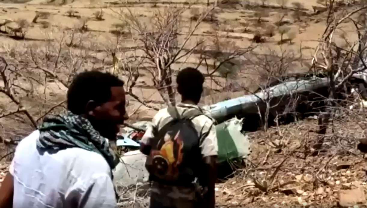 Government Mi-35 Combat Helicopter Shot Down Over Tigray Region (Video)