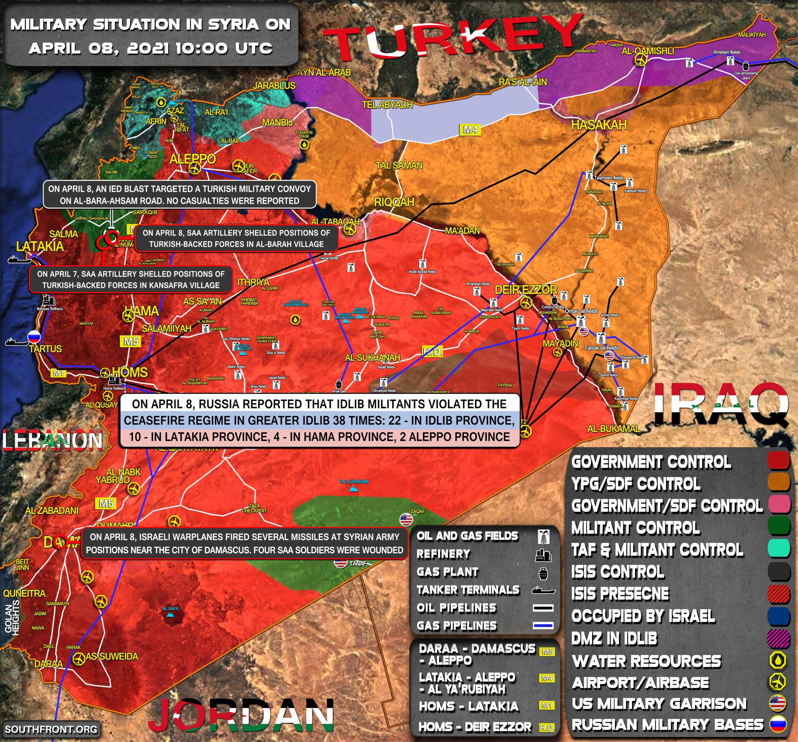 Military Situation In Syria On April 8, 2021 (Map Update)