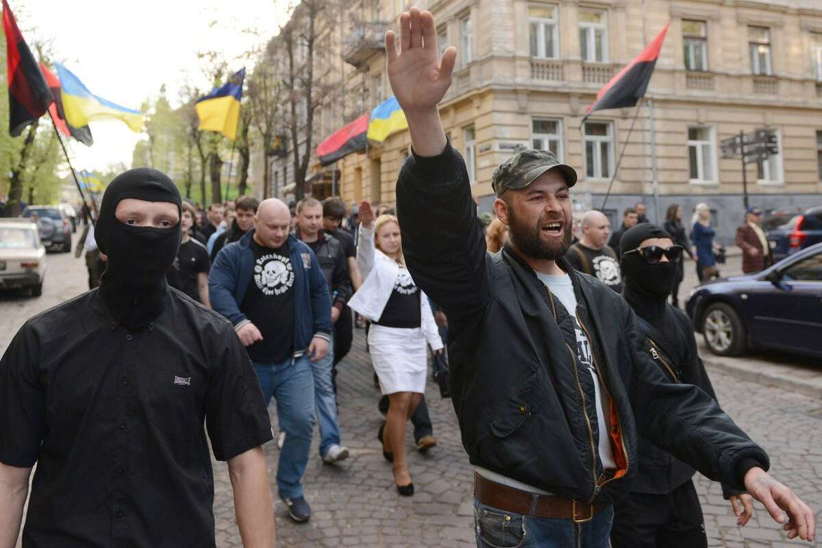 """Business As Usual: Ukrainian Nationalists Hold Rally Commemorating SS """"Galicia"""" Division"""