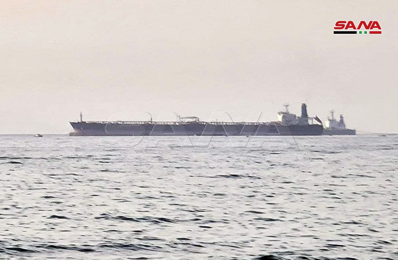Drone Strike Targets Iranian Tanker Anchored Off Syria's Main Oil Terminal (Photos)