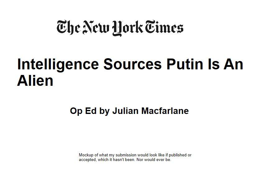 Putin Is An Alien