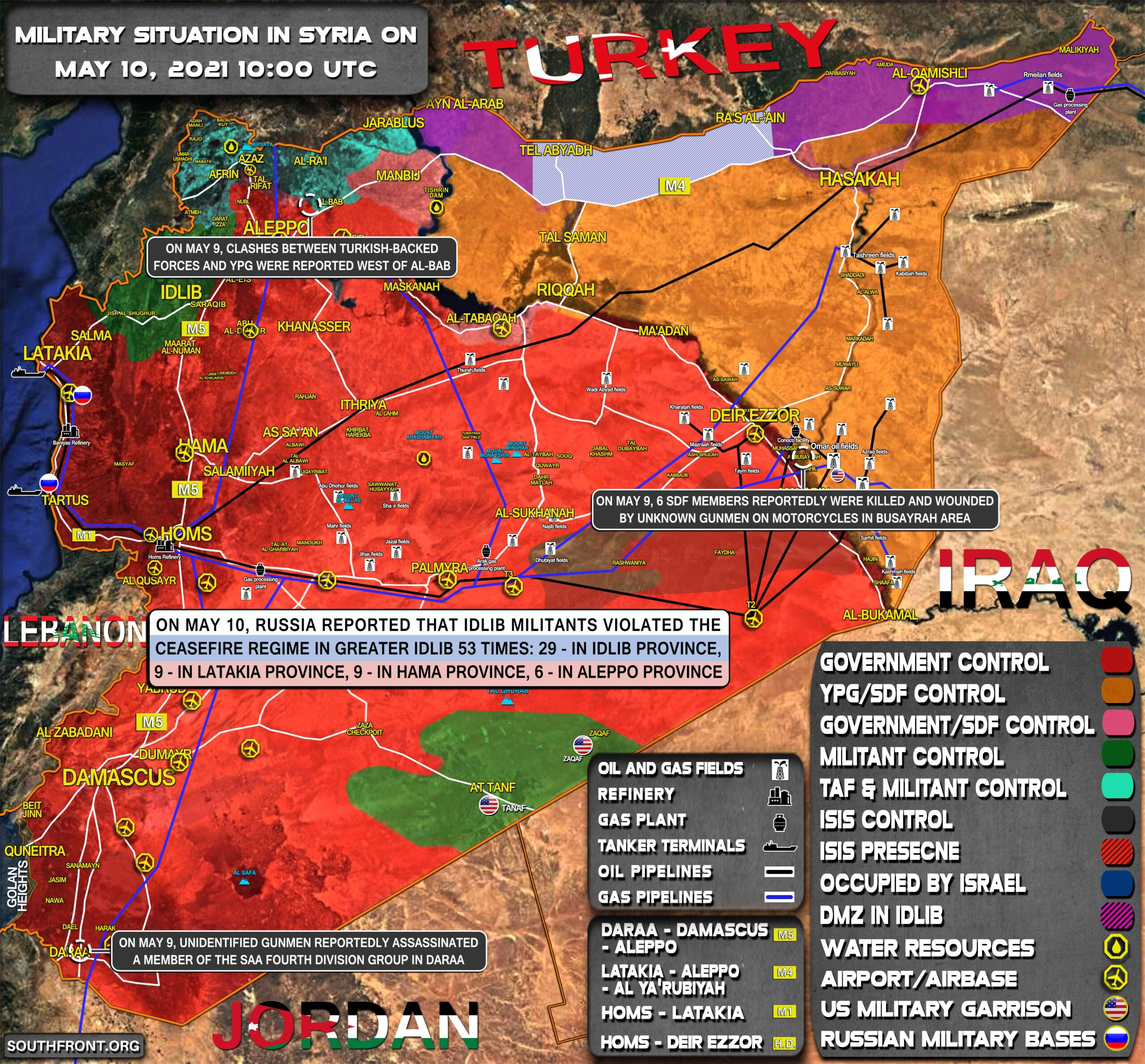 Military Situation In Syria On May 10, 2021 (Map Update)