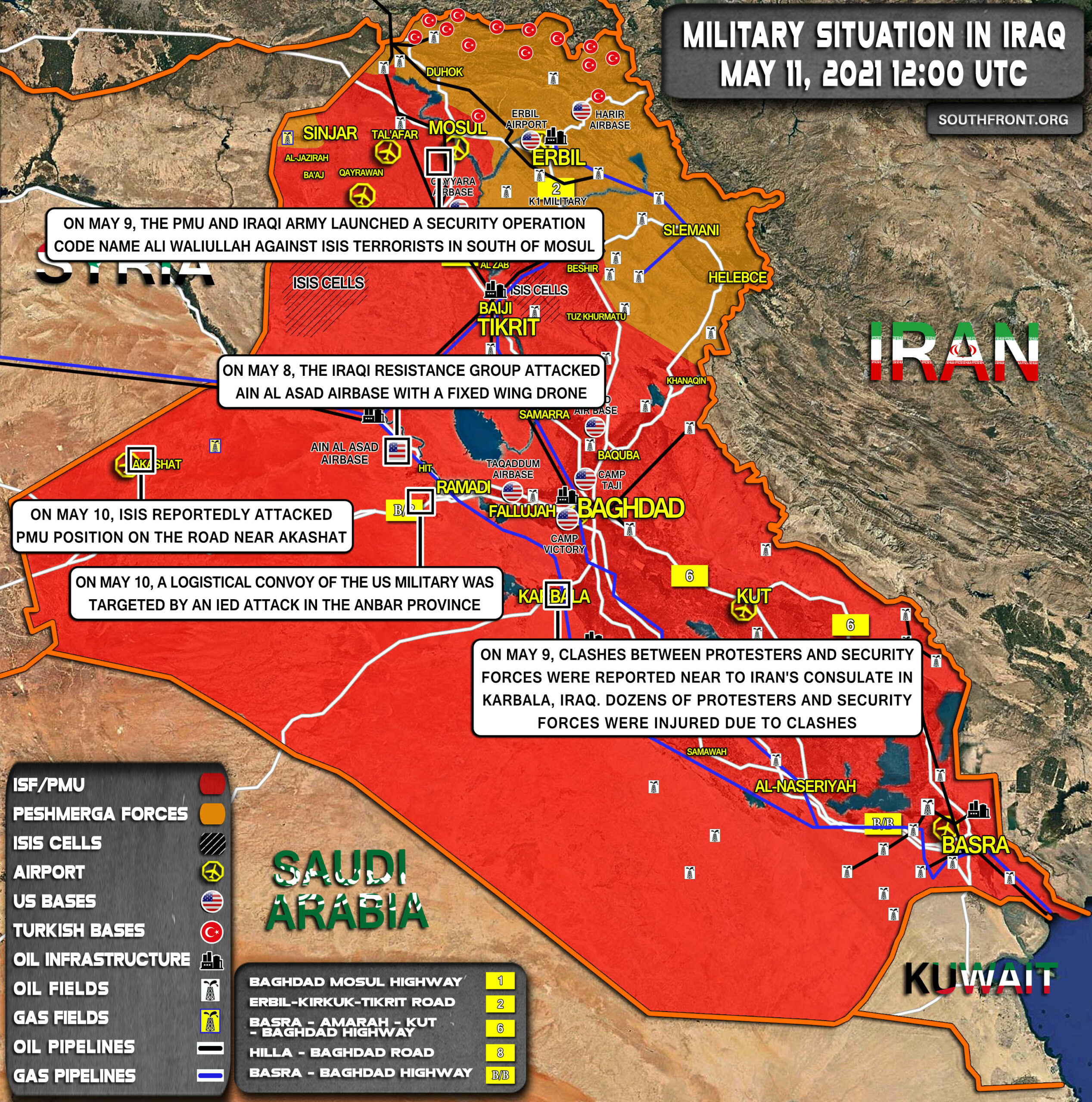 Military Situation In Iraq On May 11, 2021 (Map Update)