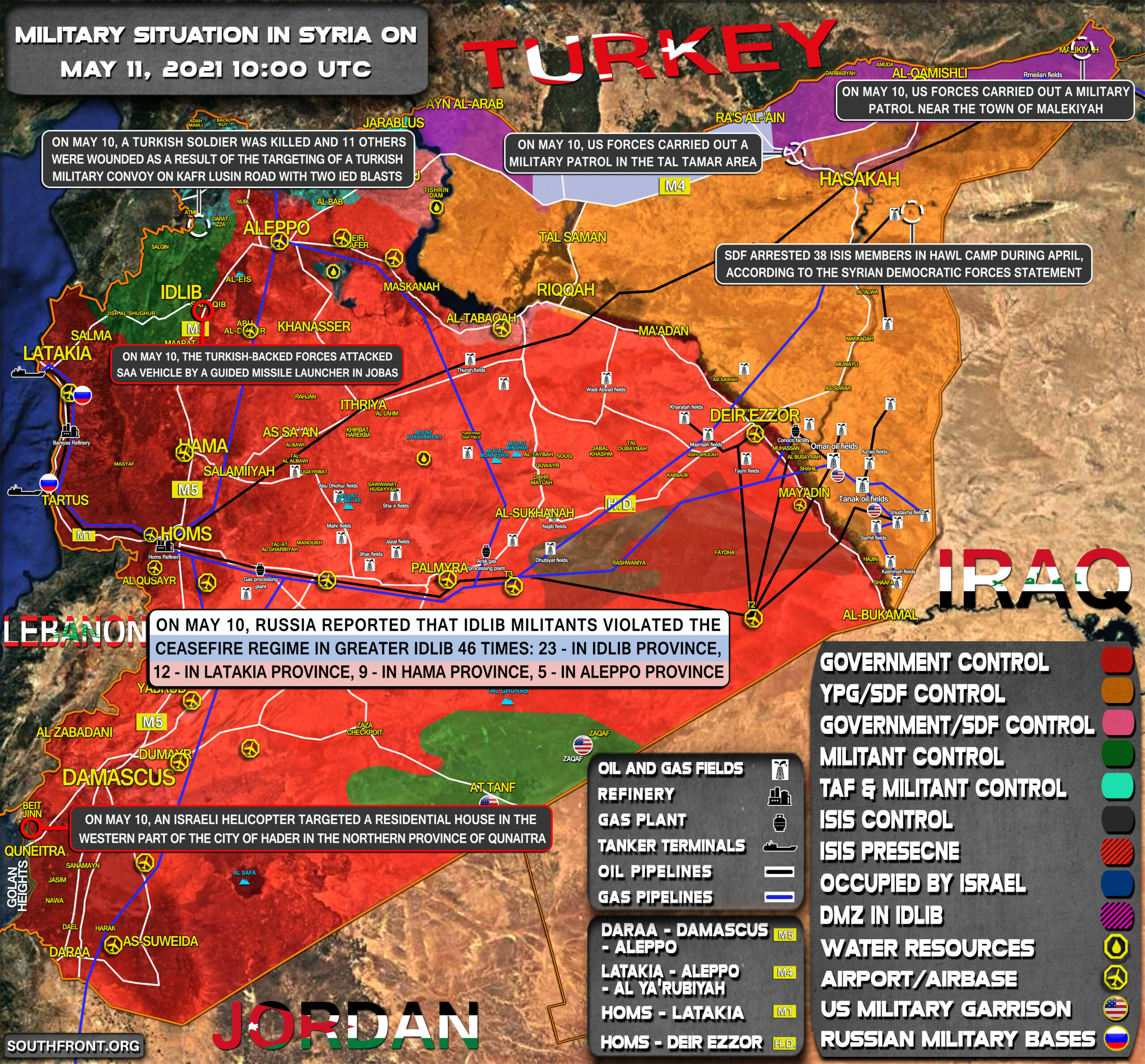 Military Situation In Syria On May 11, 2021 (Map Update)