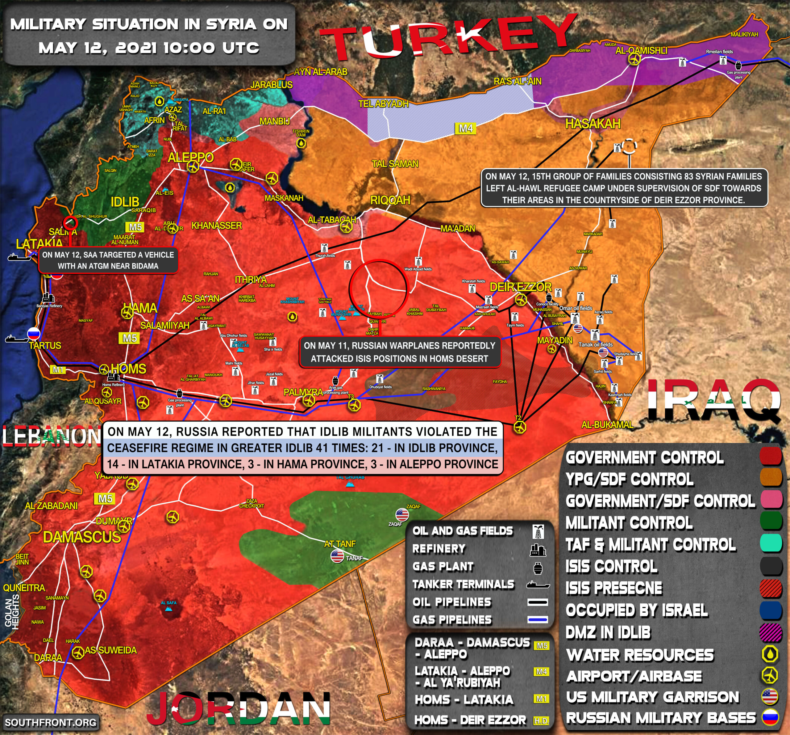 Military Situation In Syria On May 12, 2021 (Map Update)