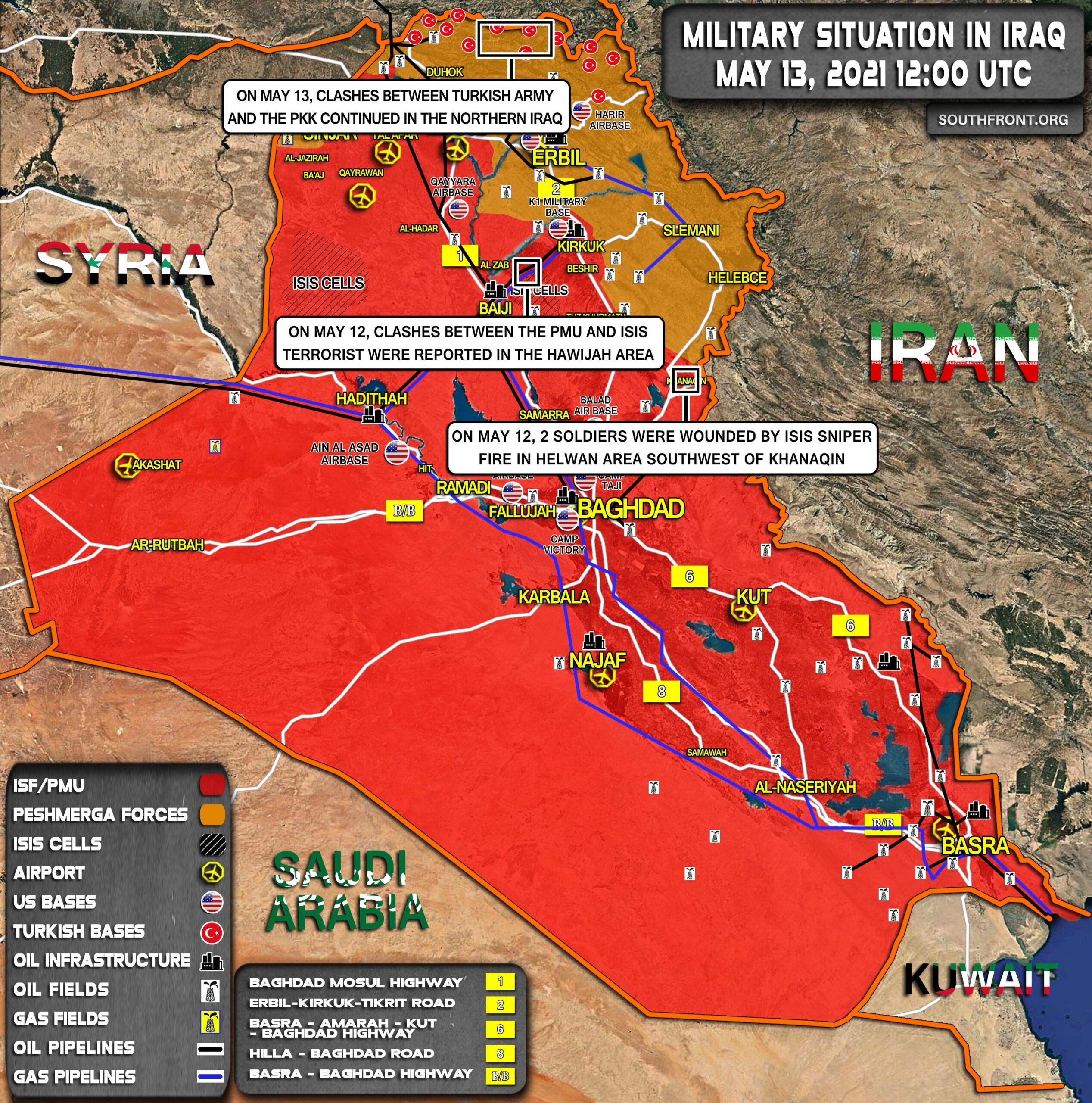 Military Situation In Iraq On May 13, 2021 (Map Update)