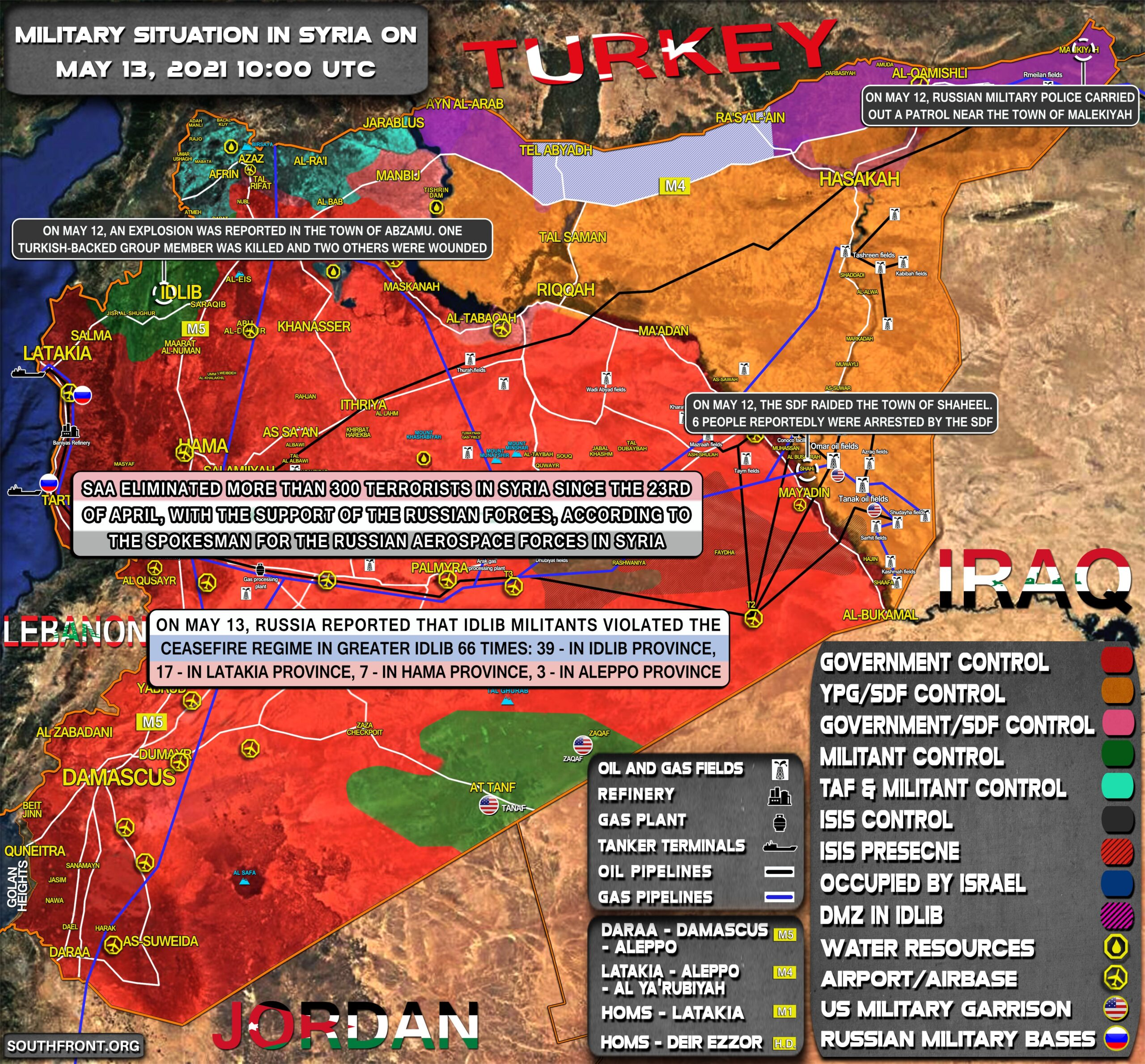 Military Situation In Syria On May 13, 2021 (Map Update)