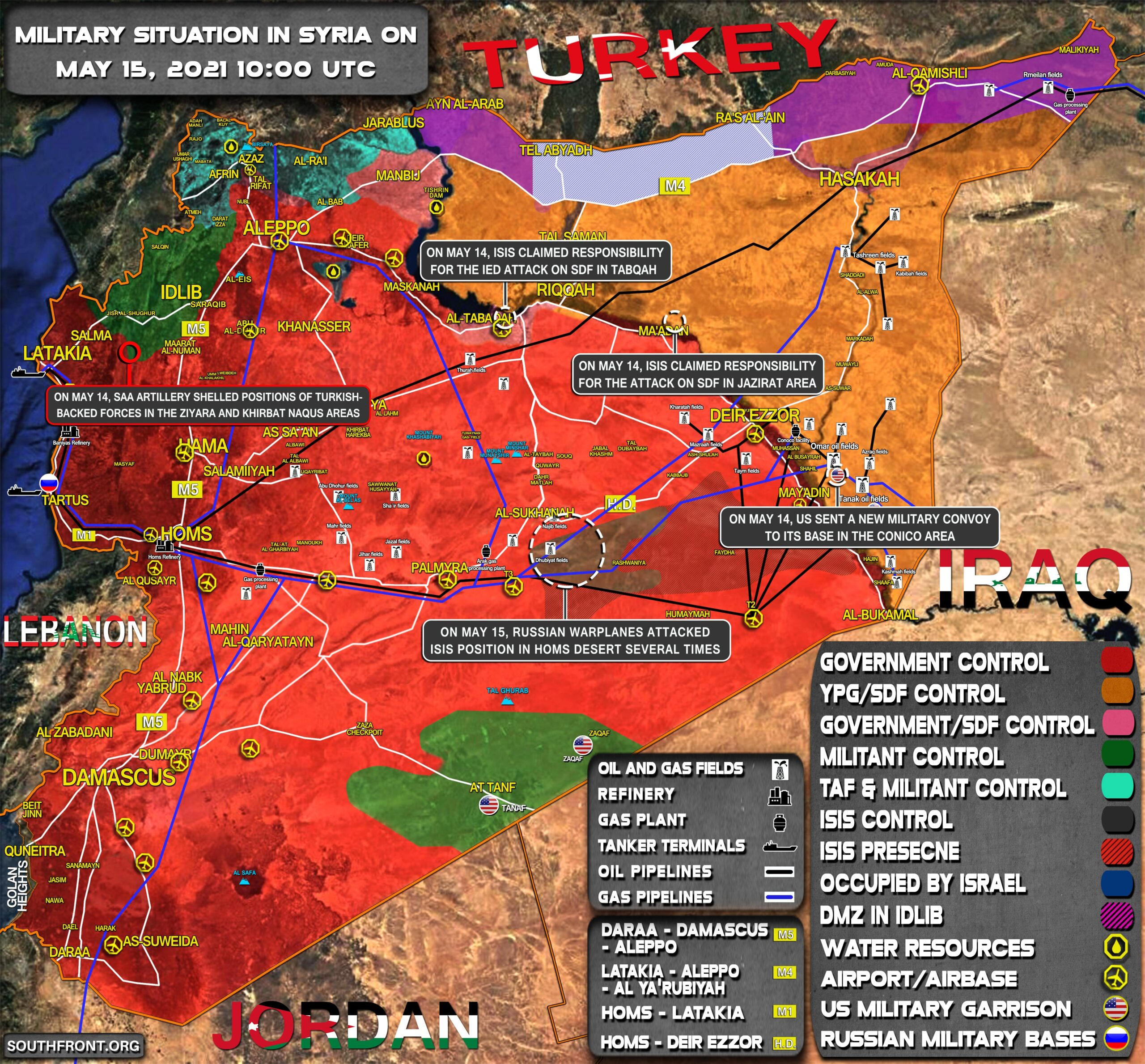 Military Situation In Syria On May 15, 2021 (Map Update)