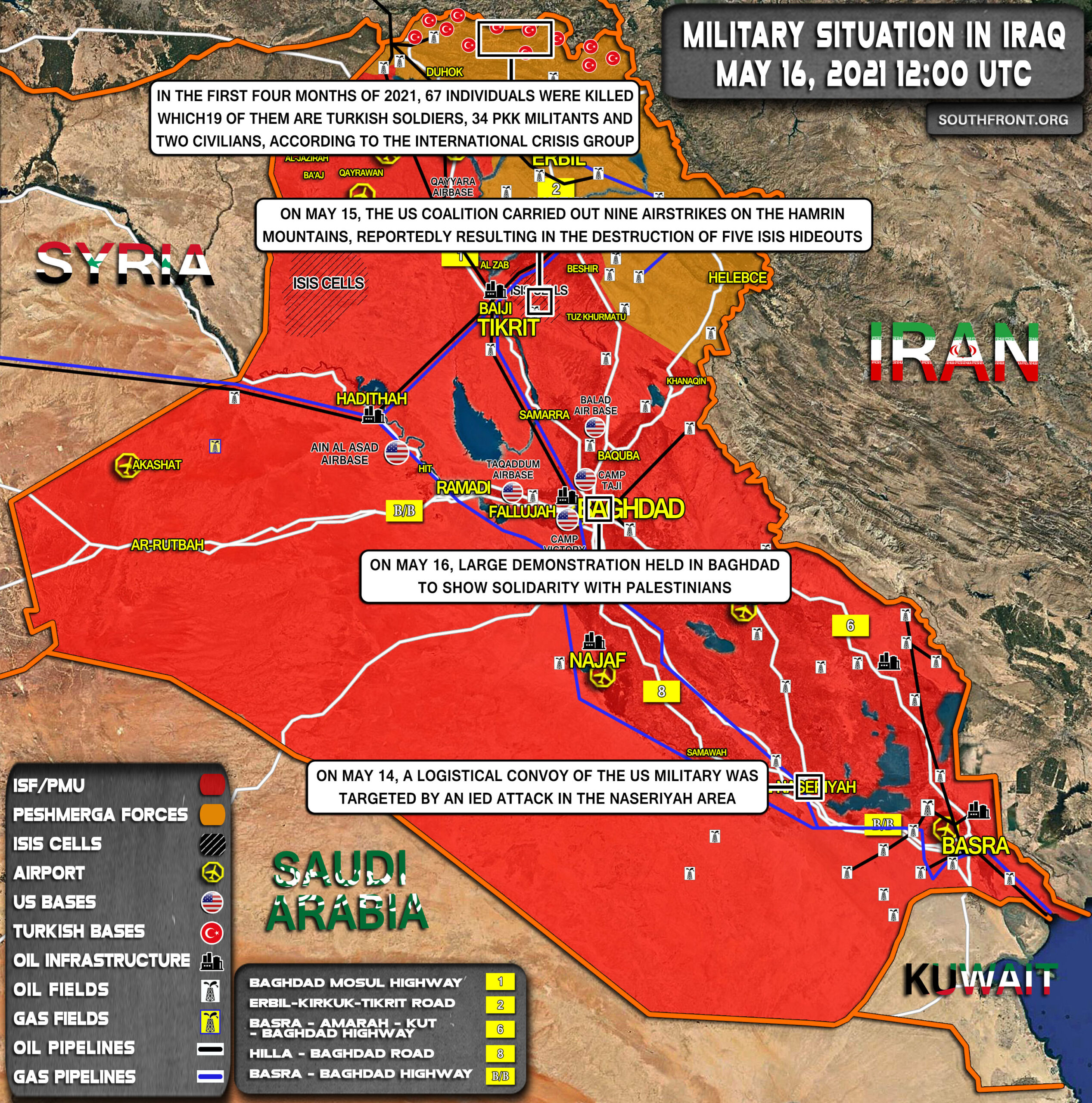 Military Situation In Iraq On May 16, 2021 (Map Update)
