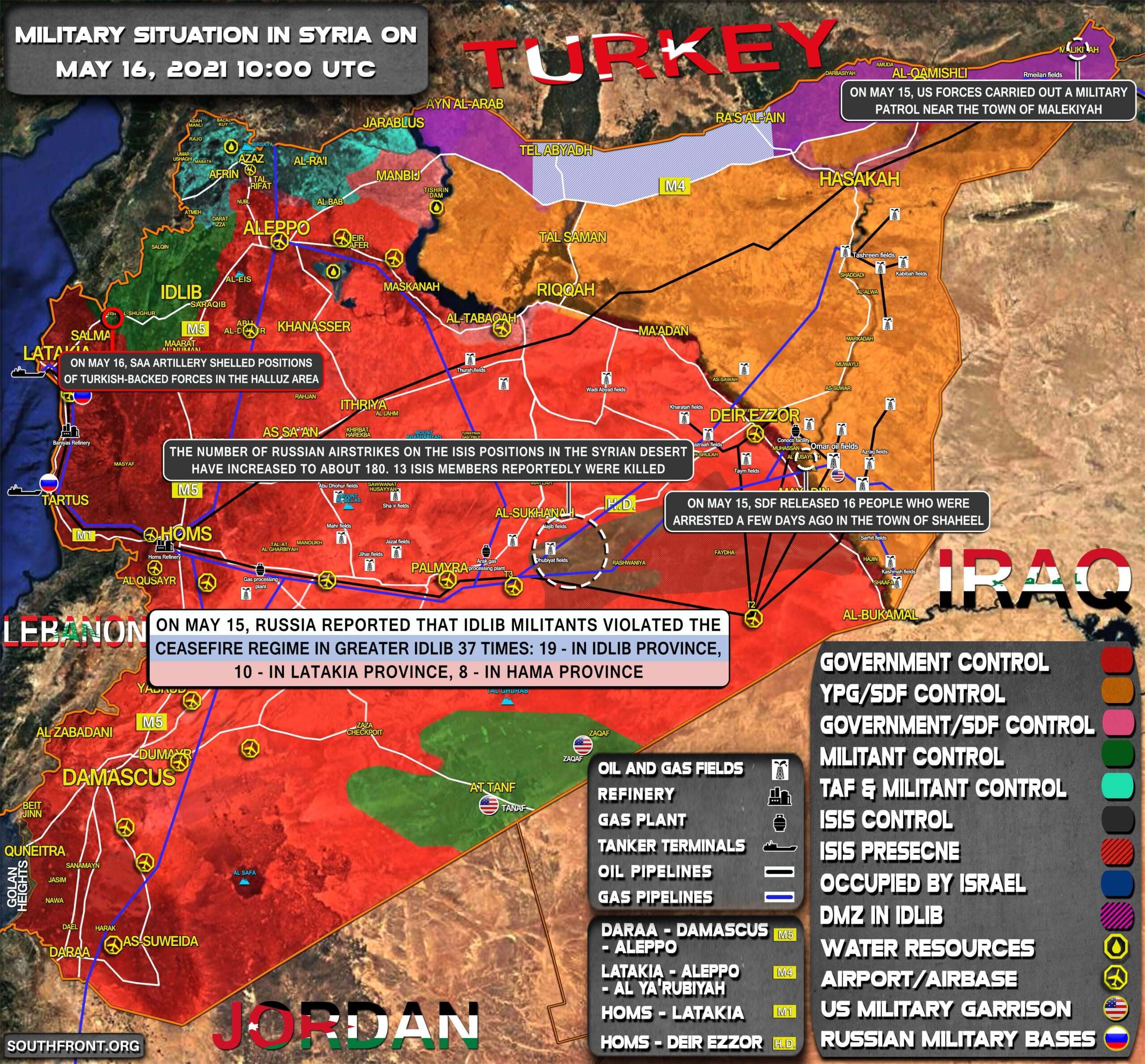Military Situation In Syria On May 16, 2021 (Map Update)