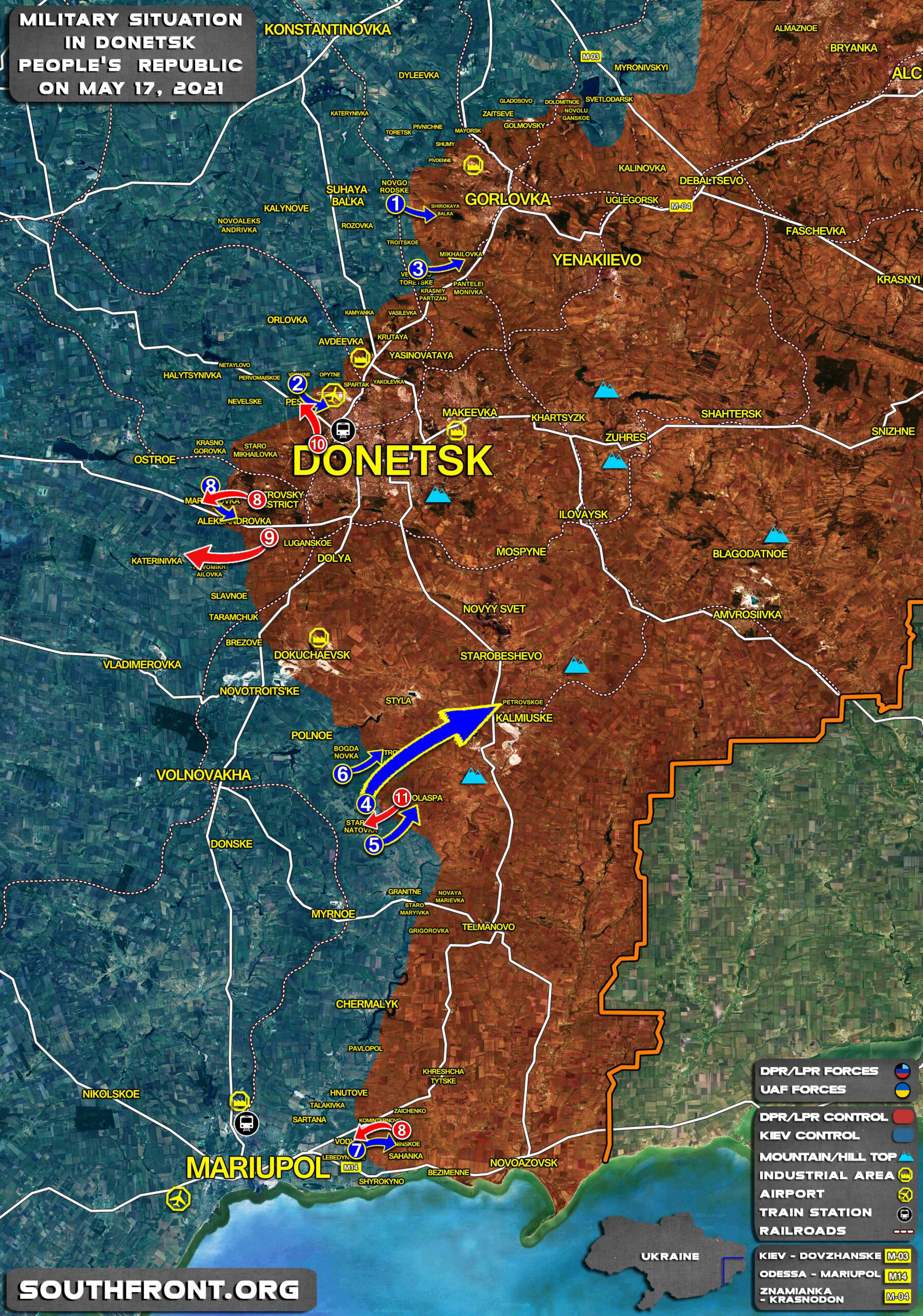 Military Situation In Donetsk People's Republic On May 17, 2021 (Map Update)