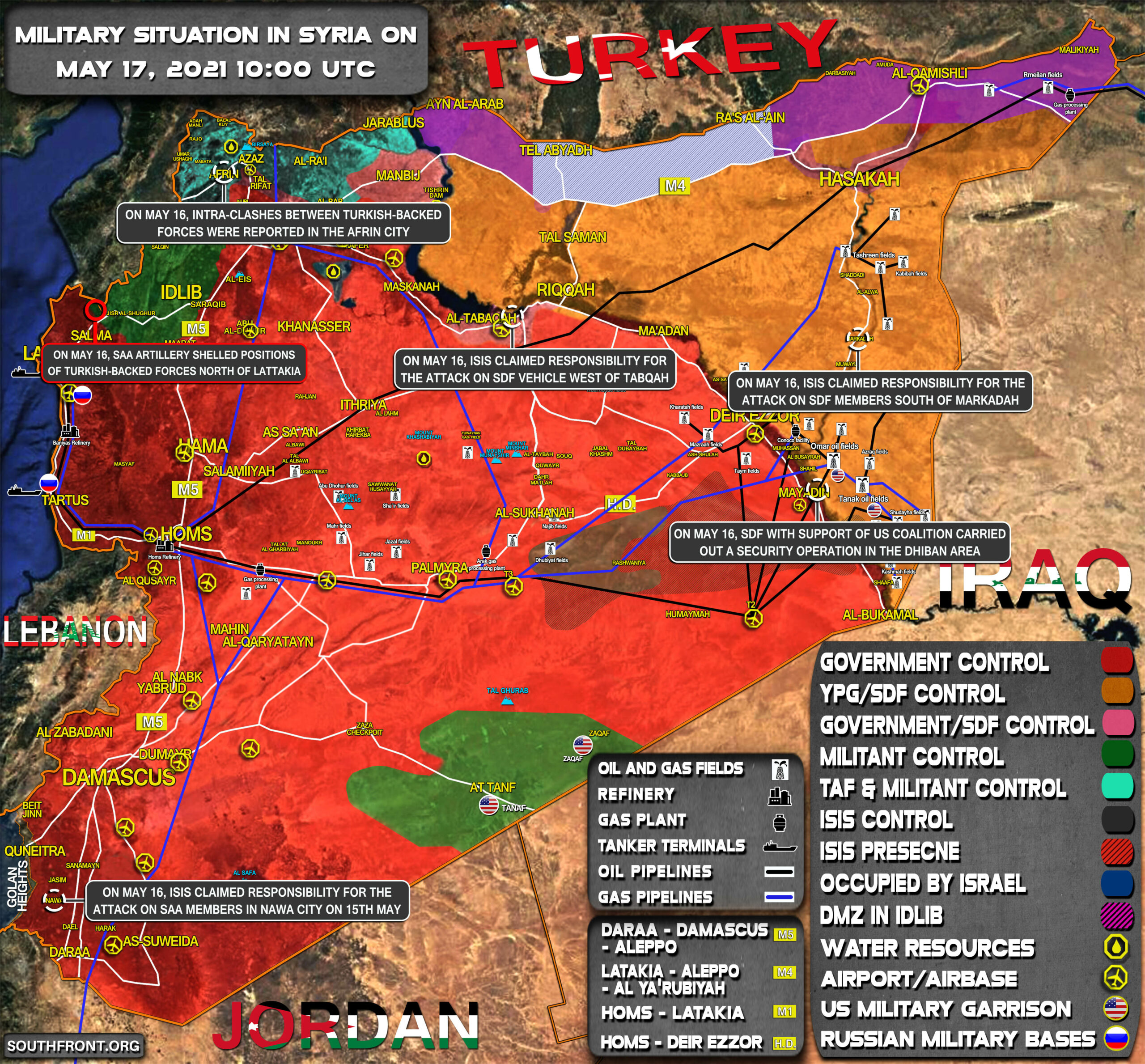Military Situation In Syria On May 17, 2021 (Map Update)