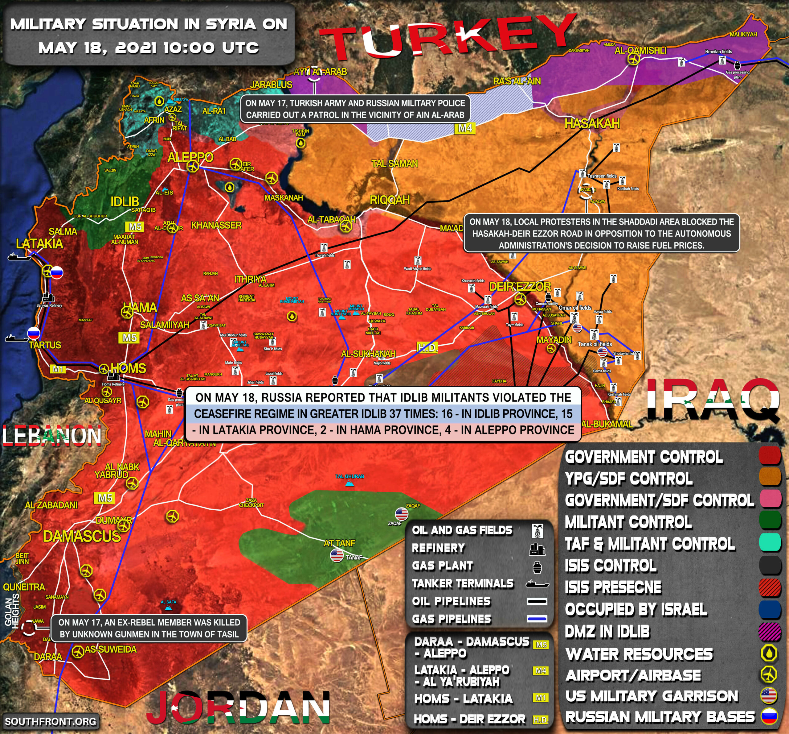Military Situation In Syria On May 18, 2021 (Map Update)