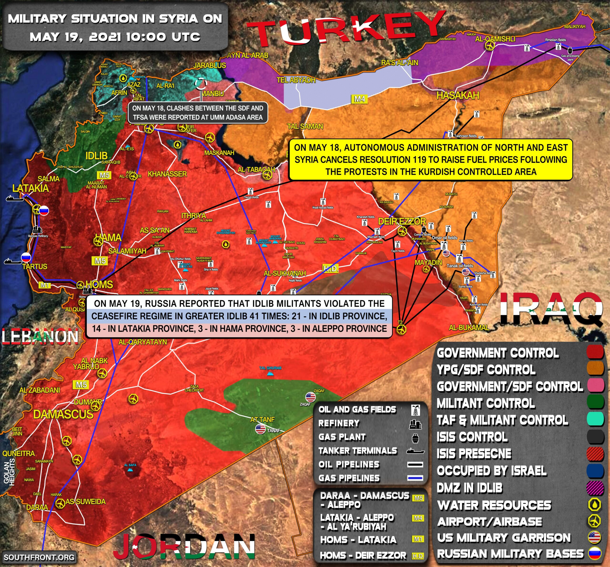 Military Situation In Syria On May 19, 2021 (Map Update)