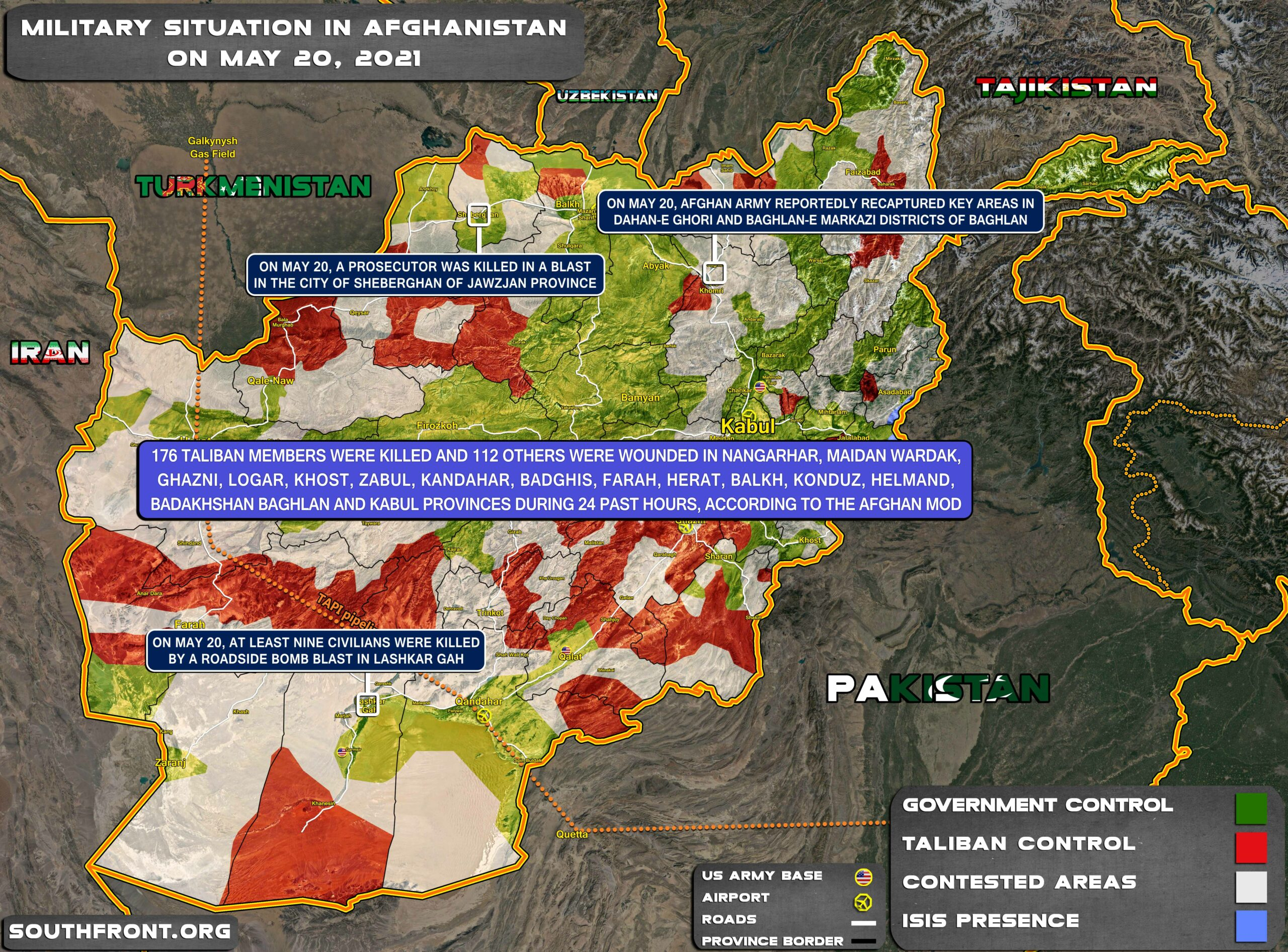 Military Situation In Afghanistan On May 20, 2021 (Map Update)