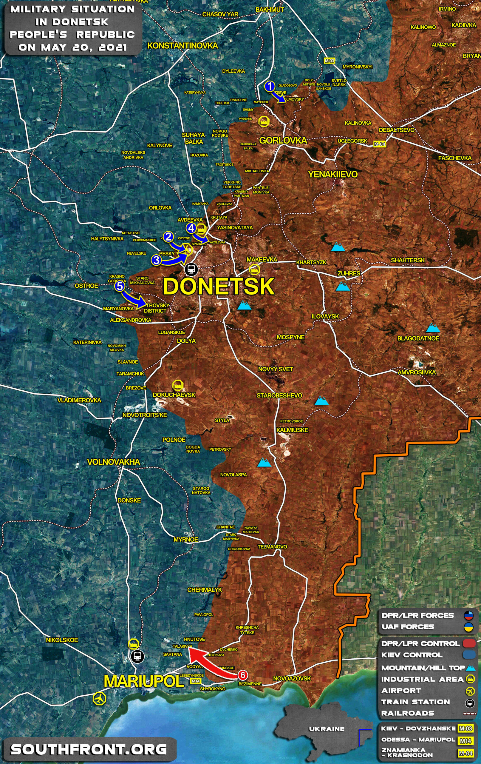 Military Situation In Donetsk People's Republic On May 20, 2021 (Map Update)