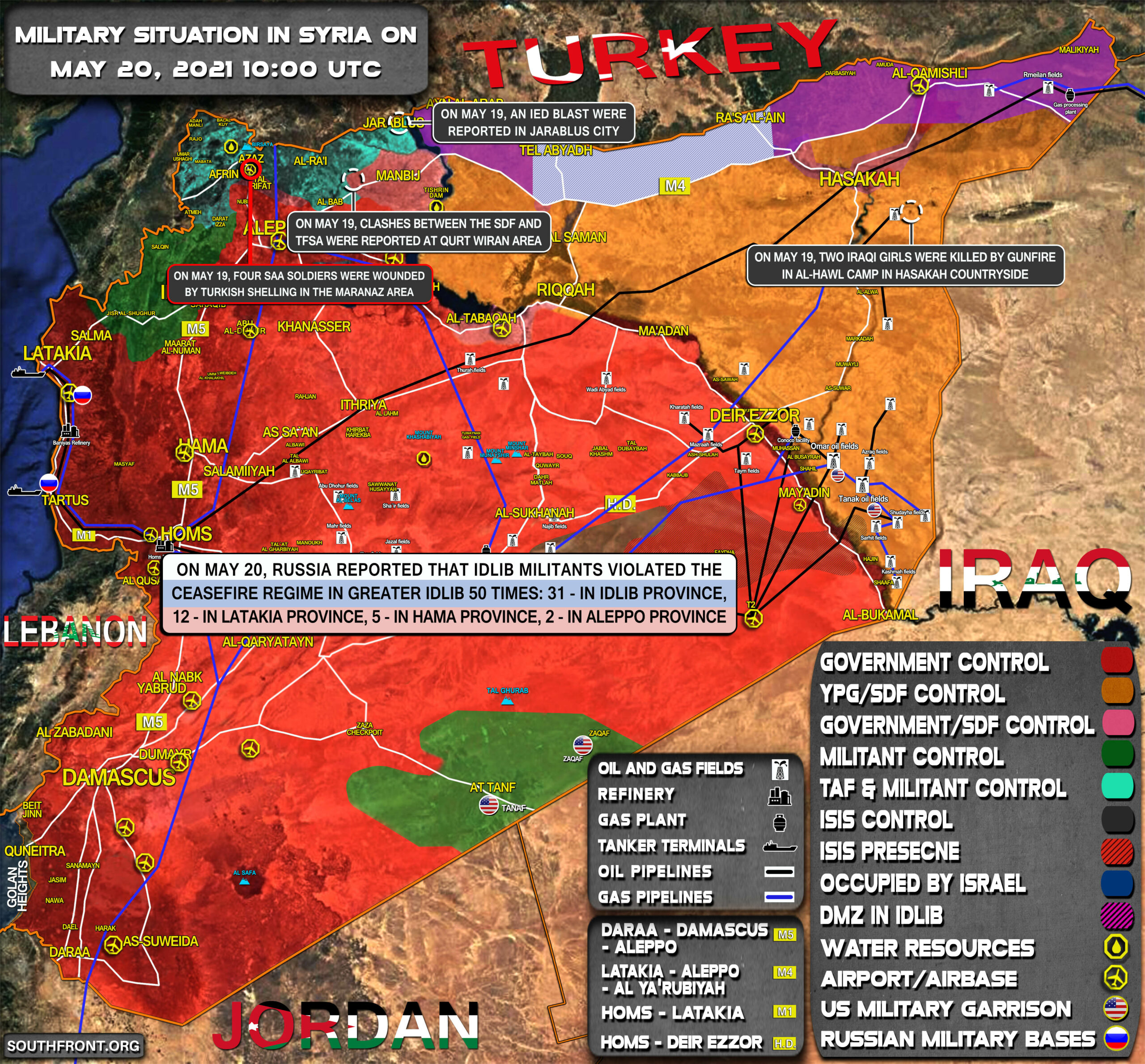 Military Situation In Syria On May 20, 2021 (Map Update)