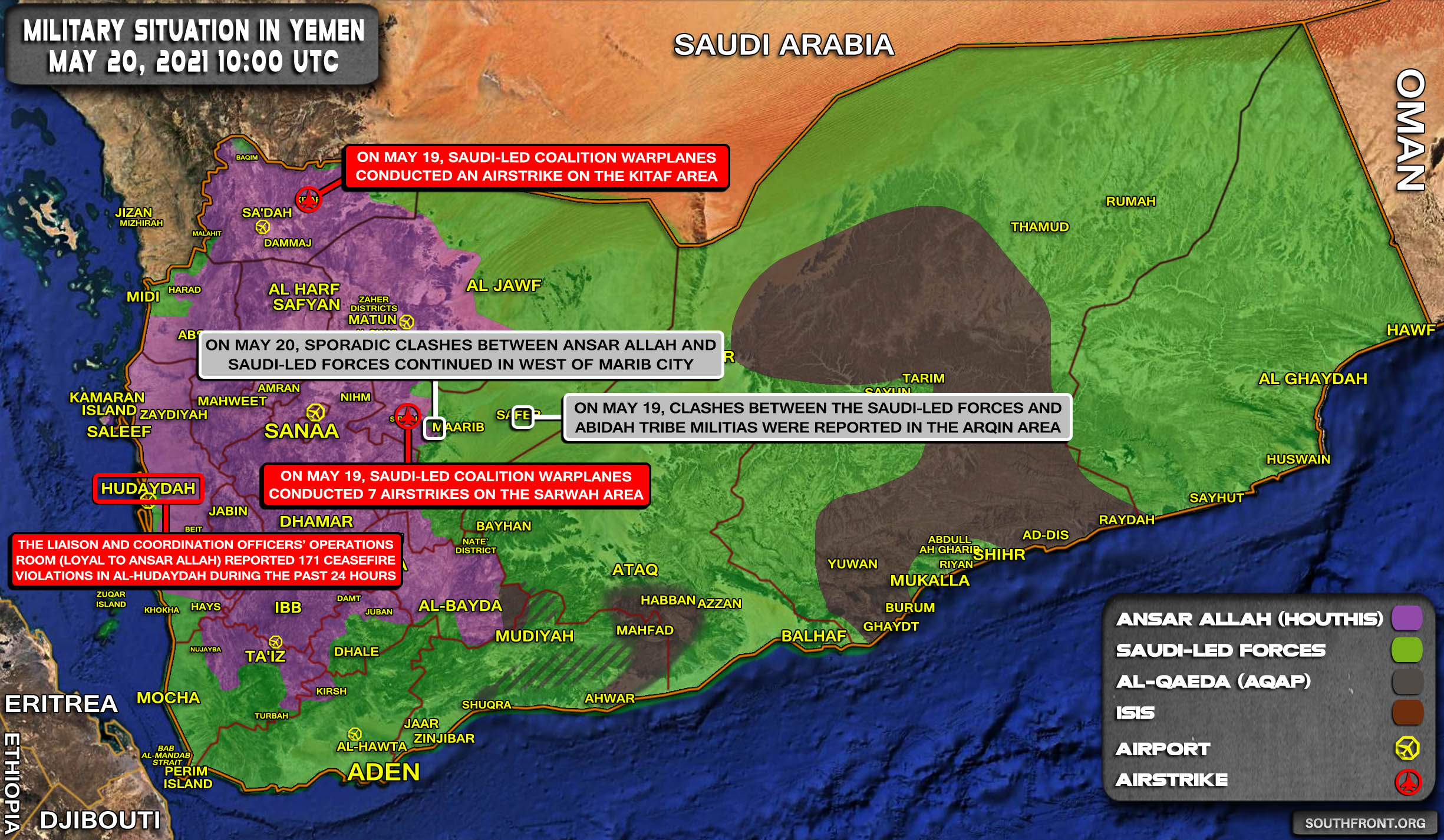 Military Situation In Yemen On May 20, 2021 (Map Update)