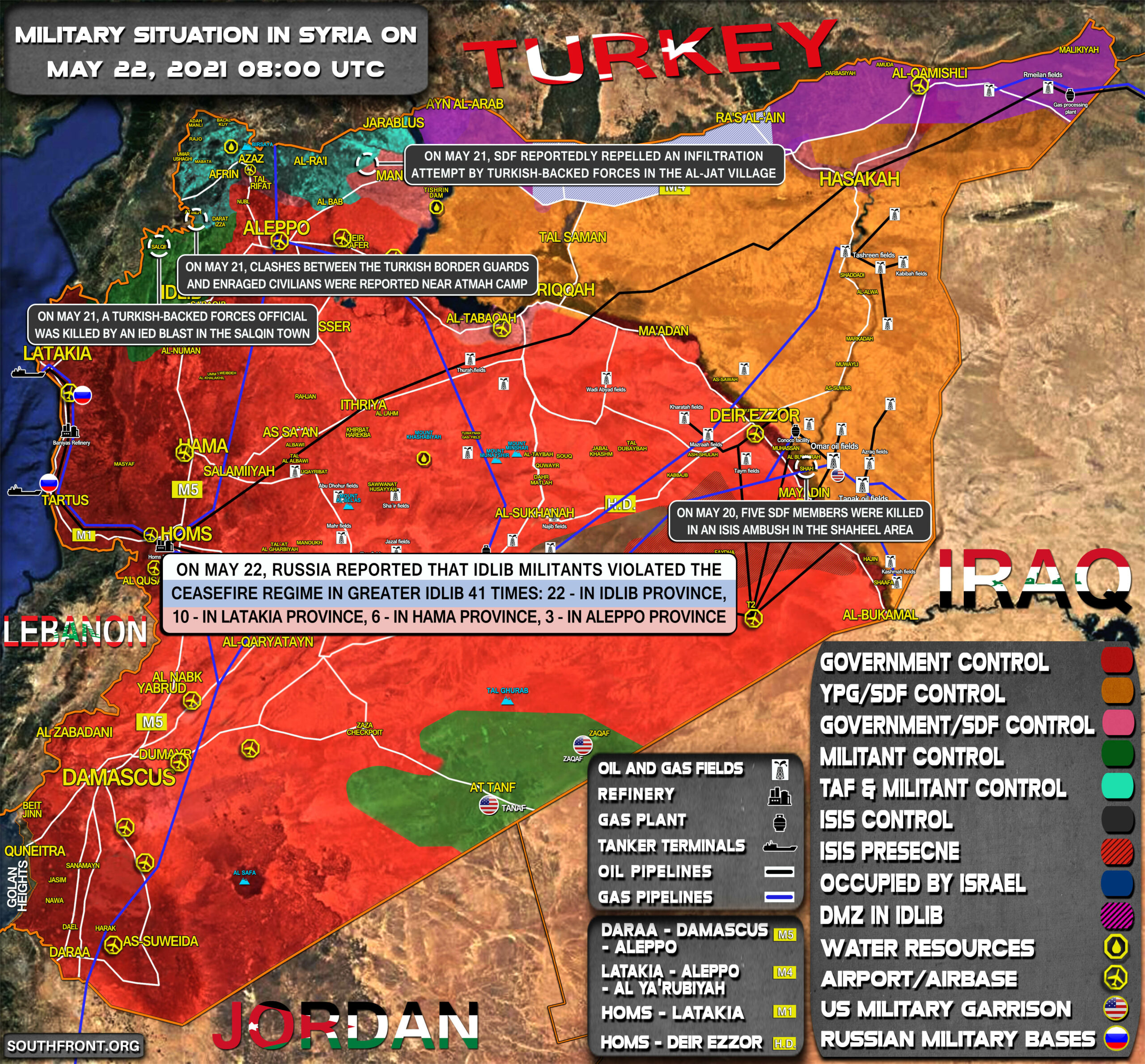 Military Situation In Syria On May 22, 2021 (Map Update)