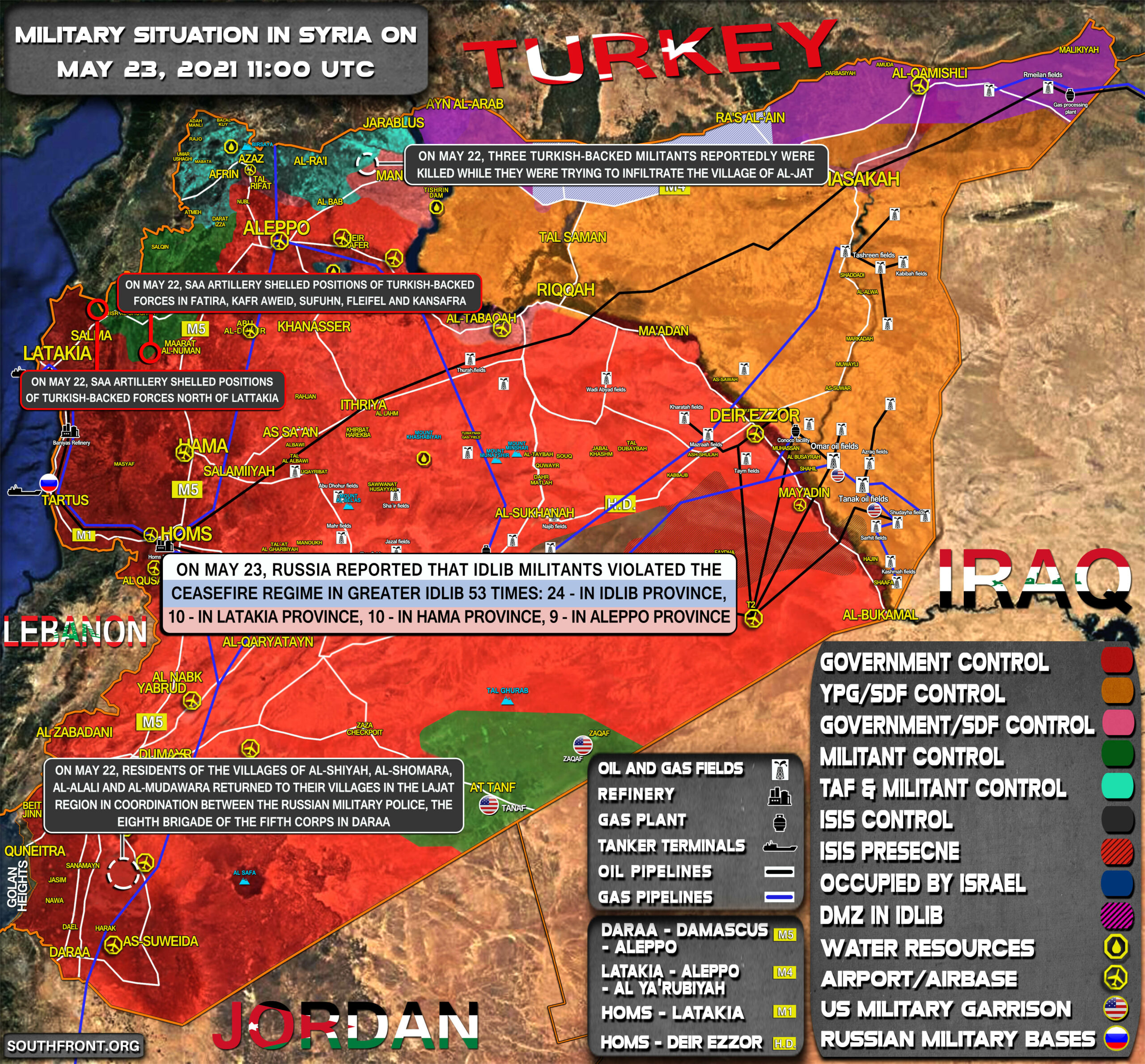 Military Situation In Syria On May 23, 2021 (Map Update)