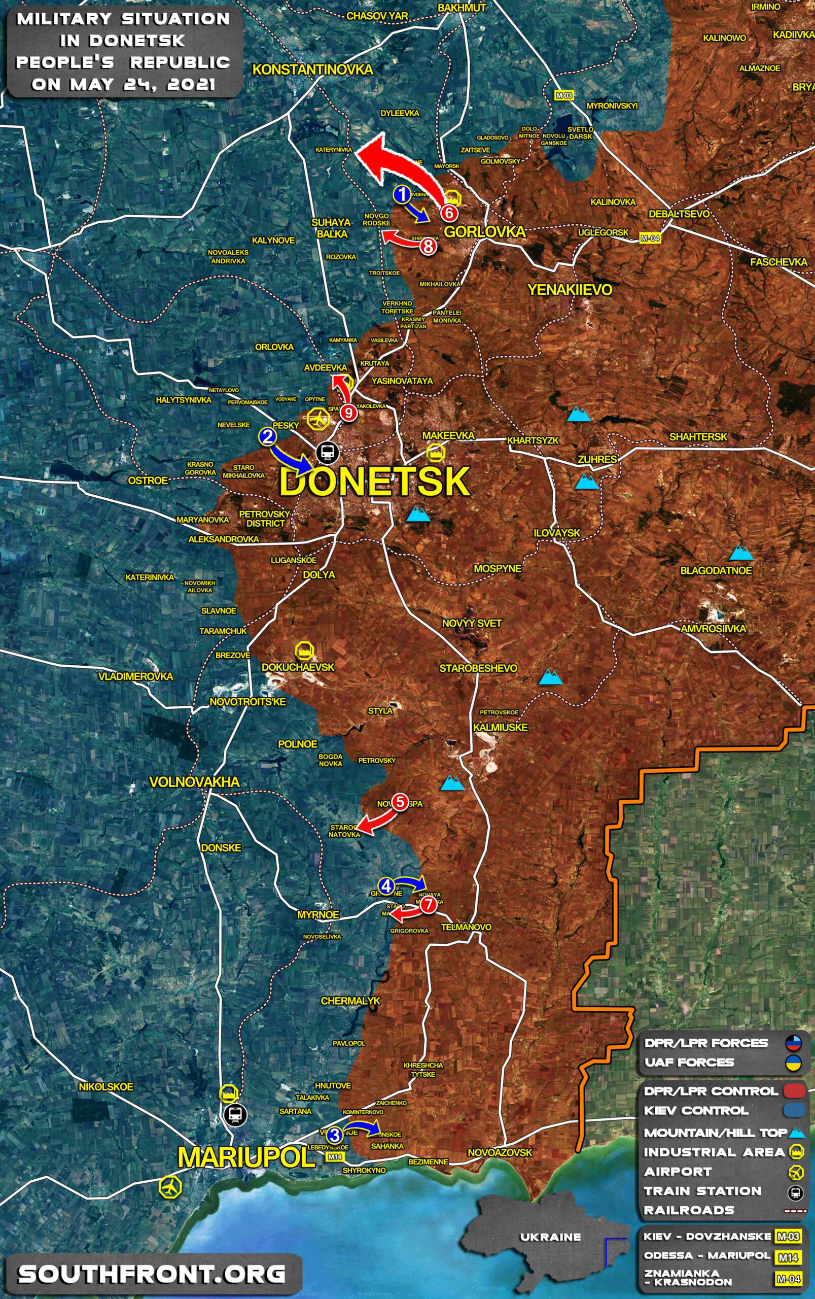 Military Situation In Donetsk People's Republic On May 24, 2021 (Map Update)