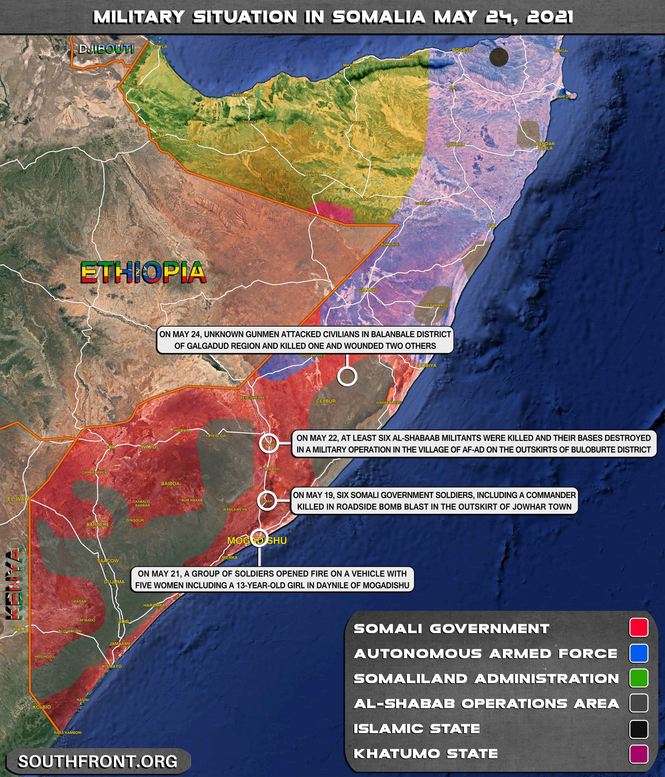 Military Situation In Somalia On May 24, 2021 (Map Update)