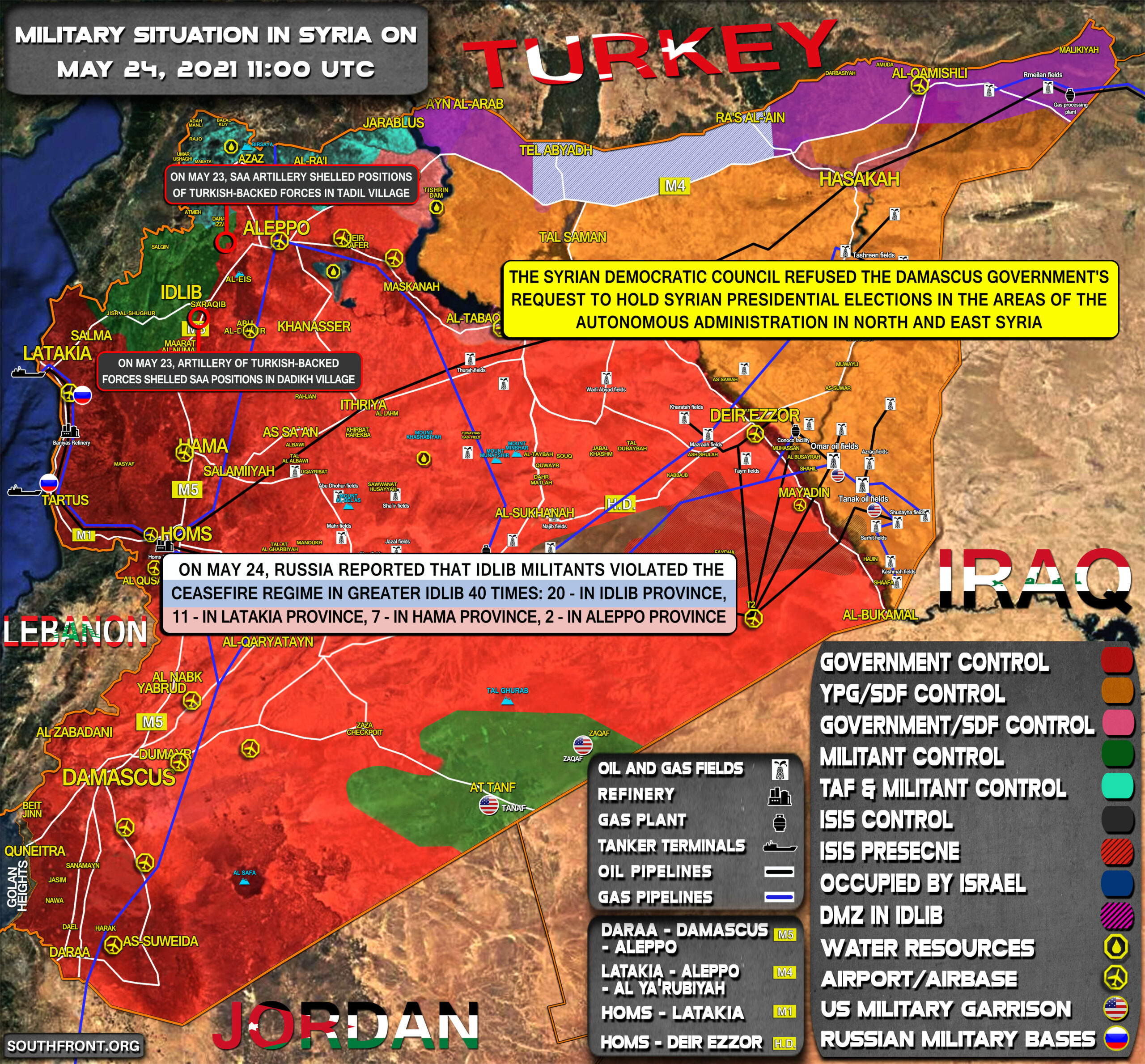 Military Situation In Syria On May 24, 2021 (Map Update)