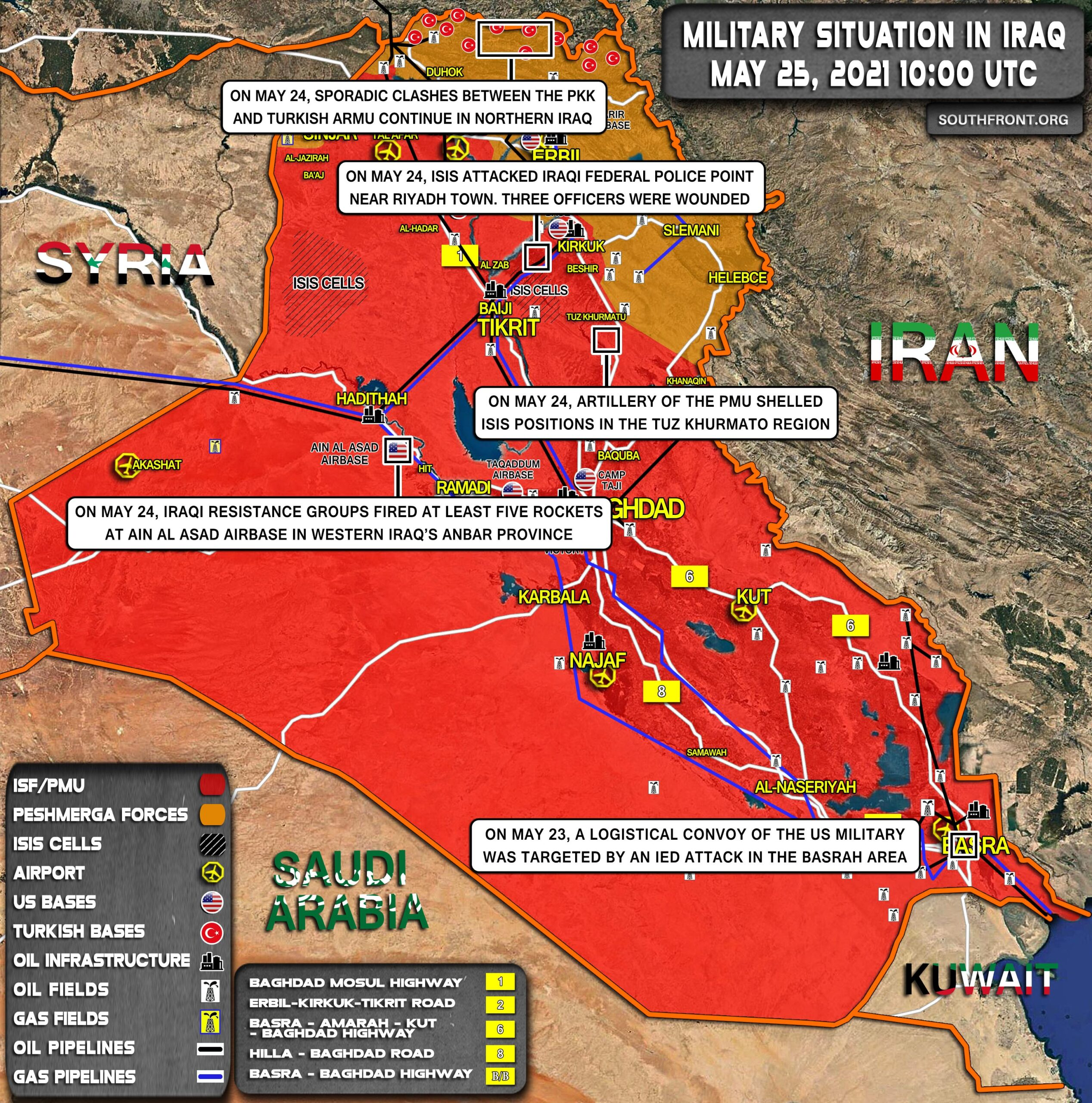 Military Situation In Iraq On May 25, 2021 (Map Update)