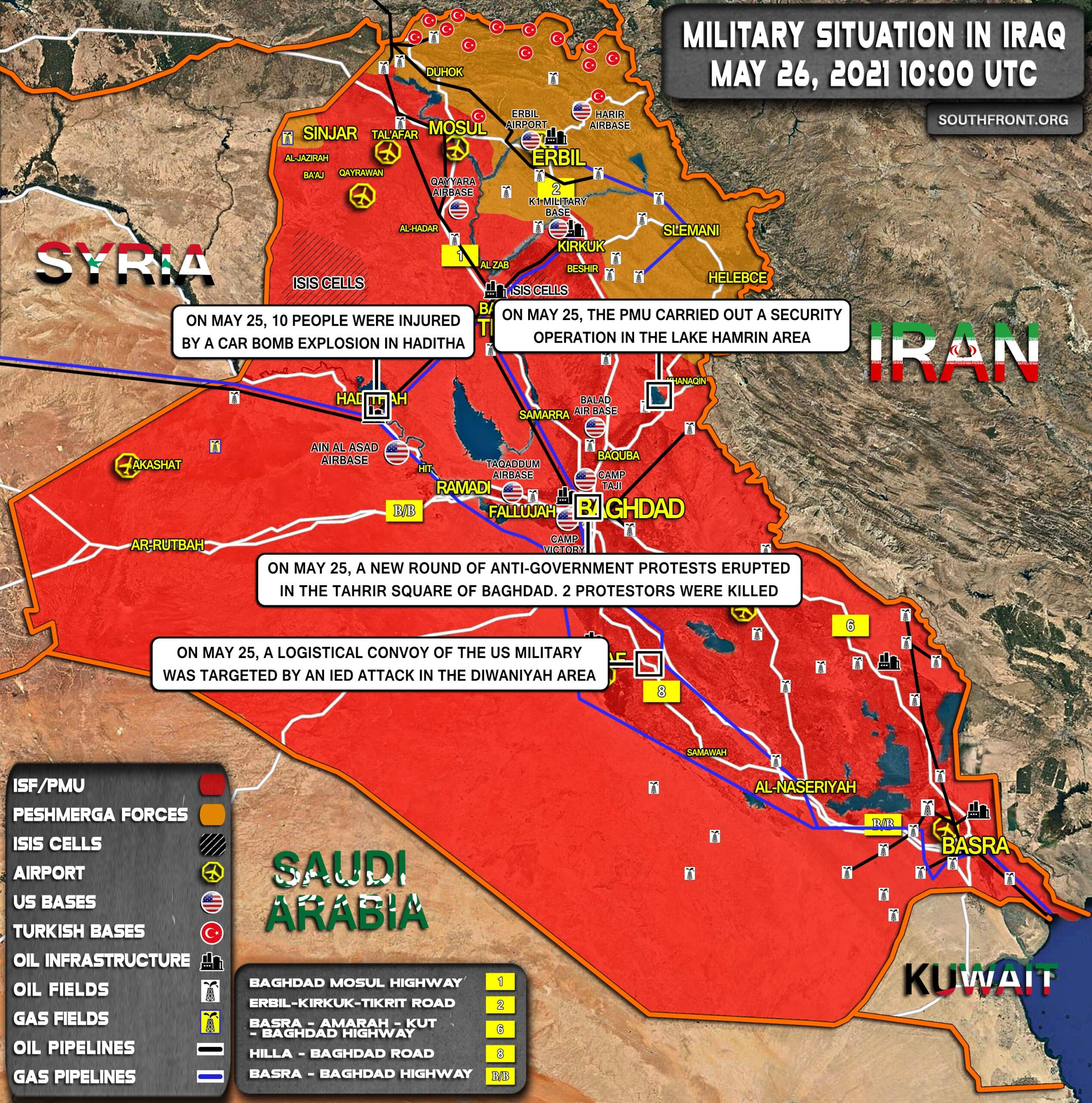 Military Situation In Iraq On May 26, 2021 (Map Update)