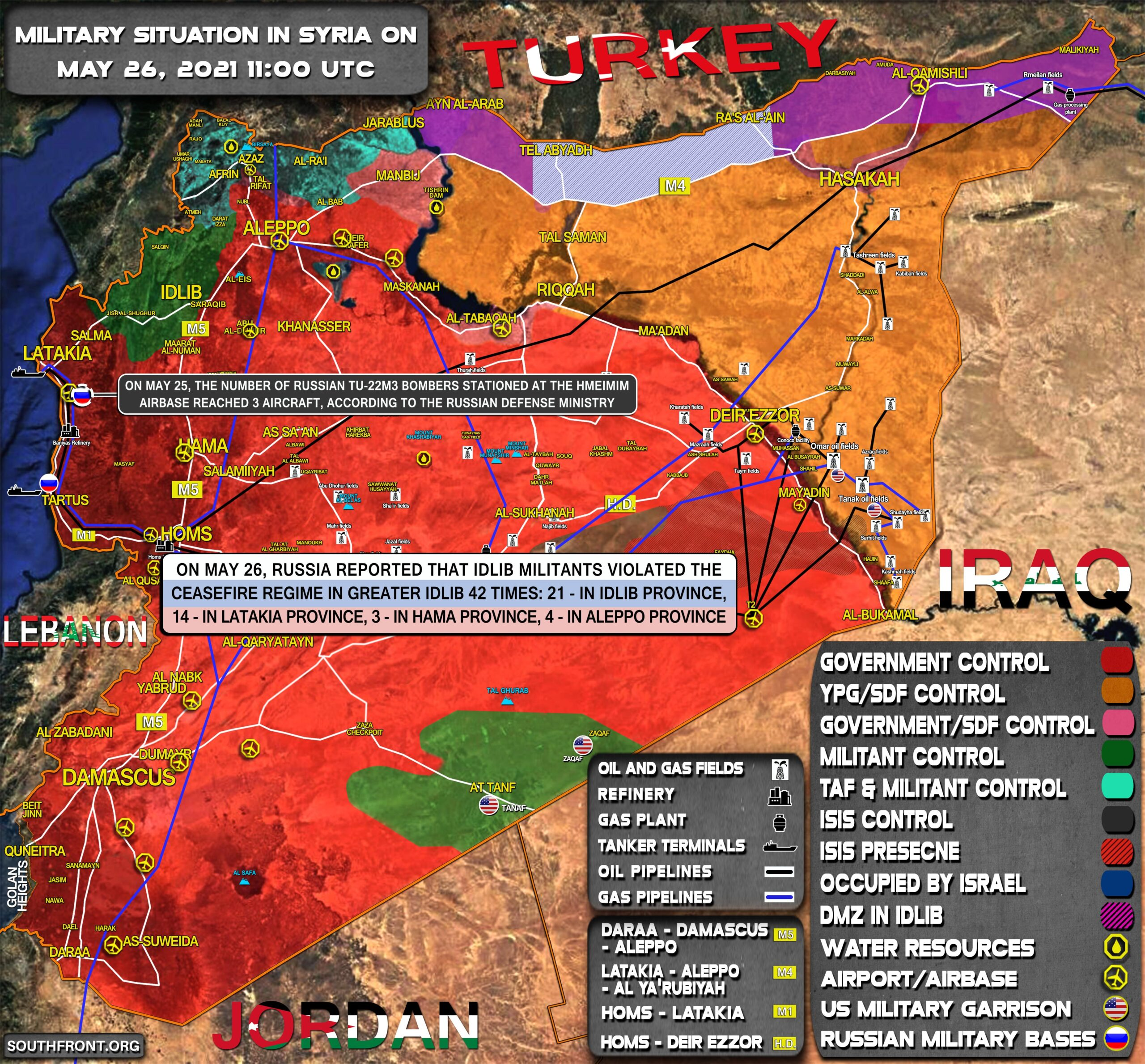 Military Situation In Syria On May 26, 2021 (Map Update)