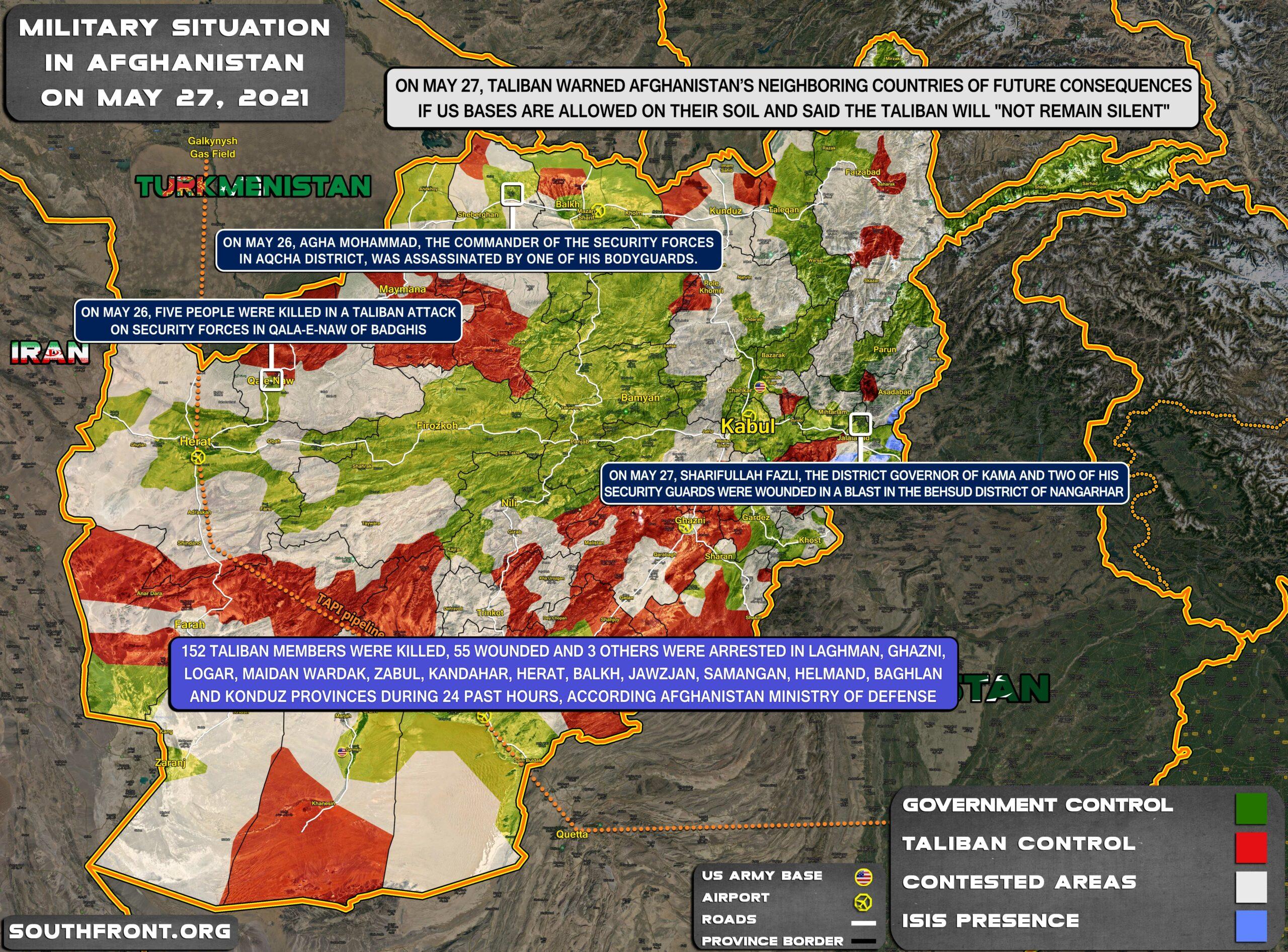 Taliban Threatens Neighboring Countries Over Hosting US Troops Leaving Afghanistan
