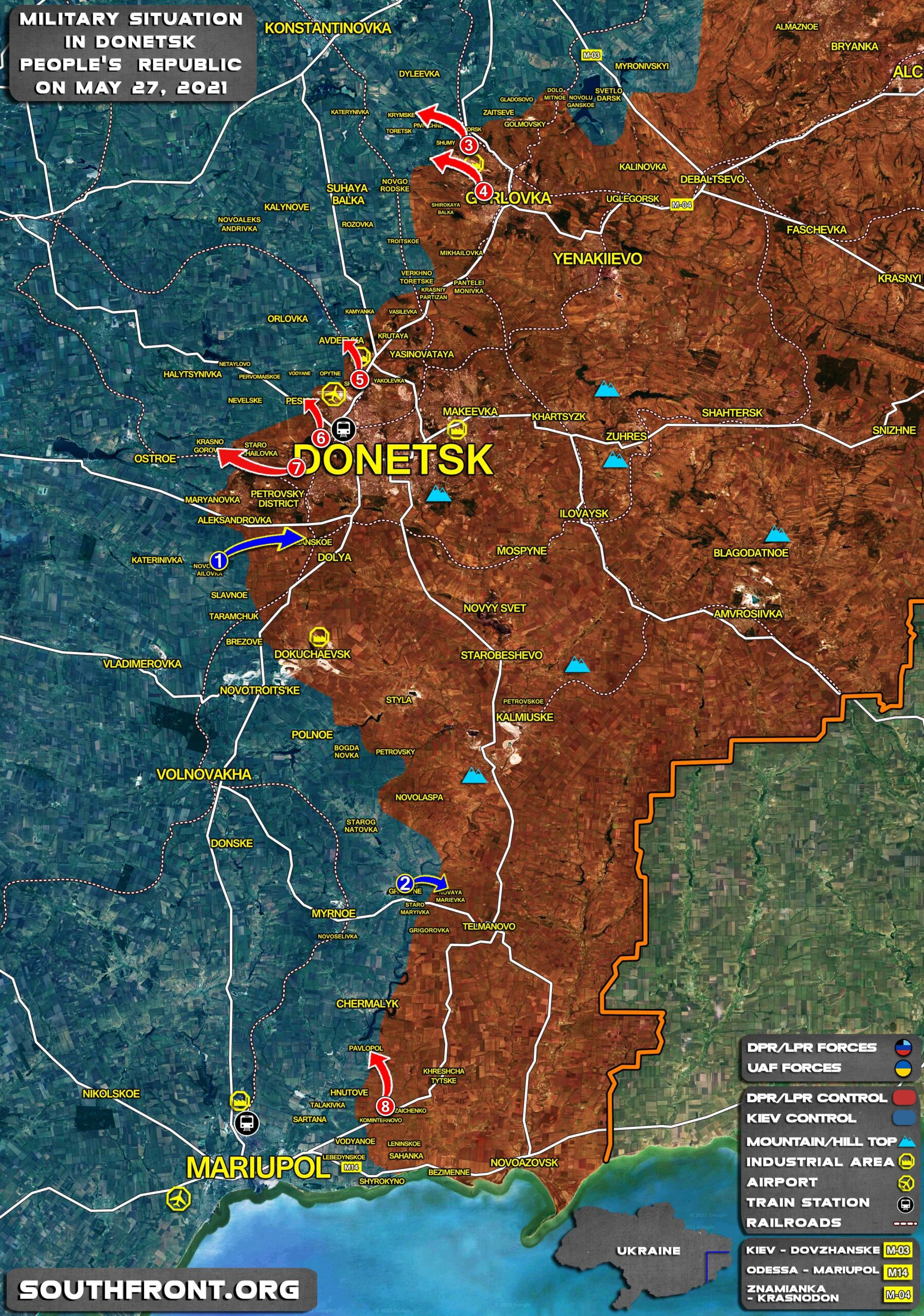 Military Situation In Donetsk People's Republic On May 27, 2021 (Map Update)