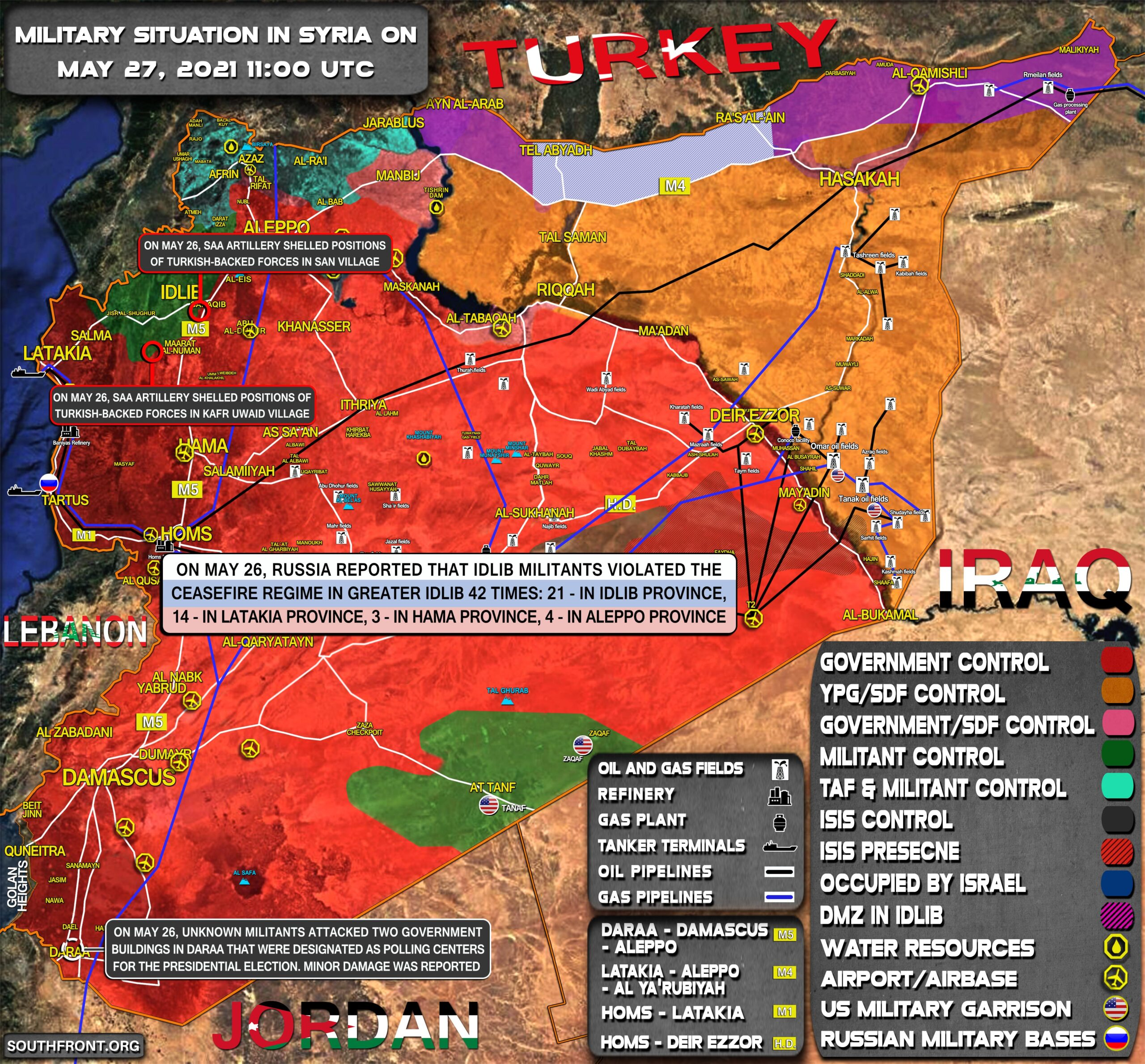 Military Situation In Syria On May 27, 2021 (Map Update)