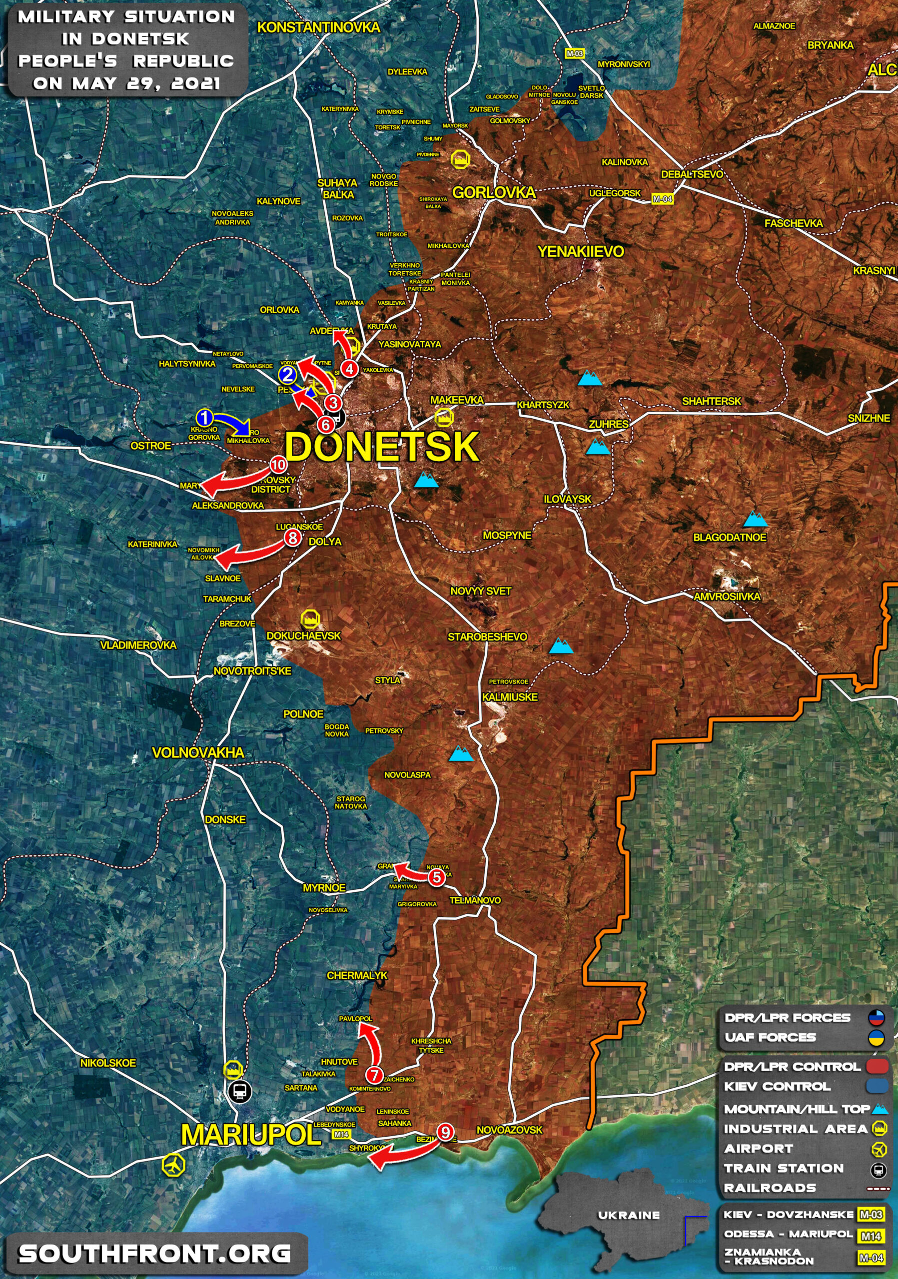 Military Situation In Donetsk People's Republic On May 29, 2021 (Map Update)
