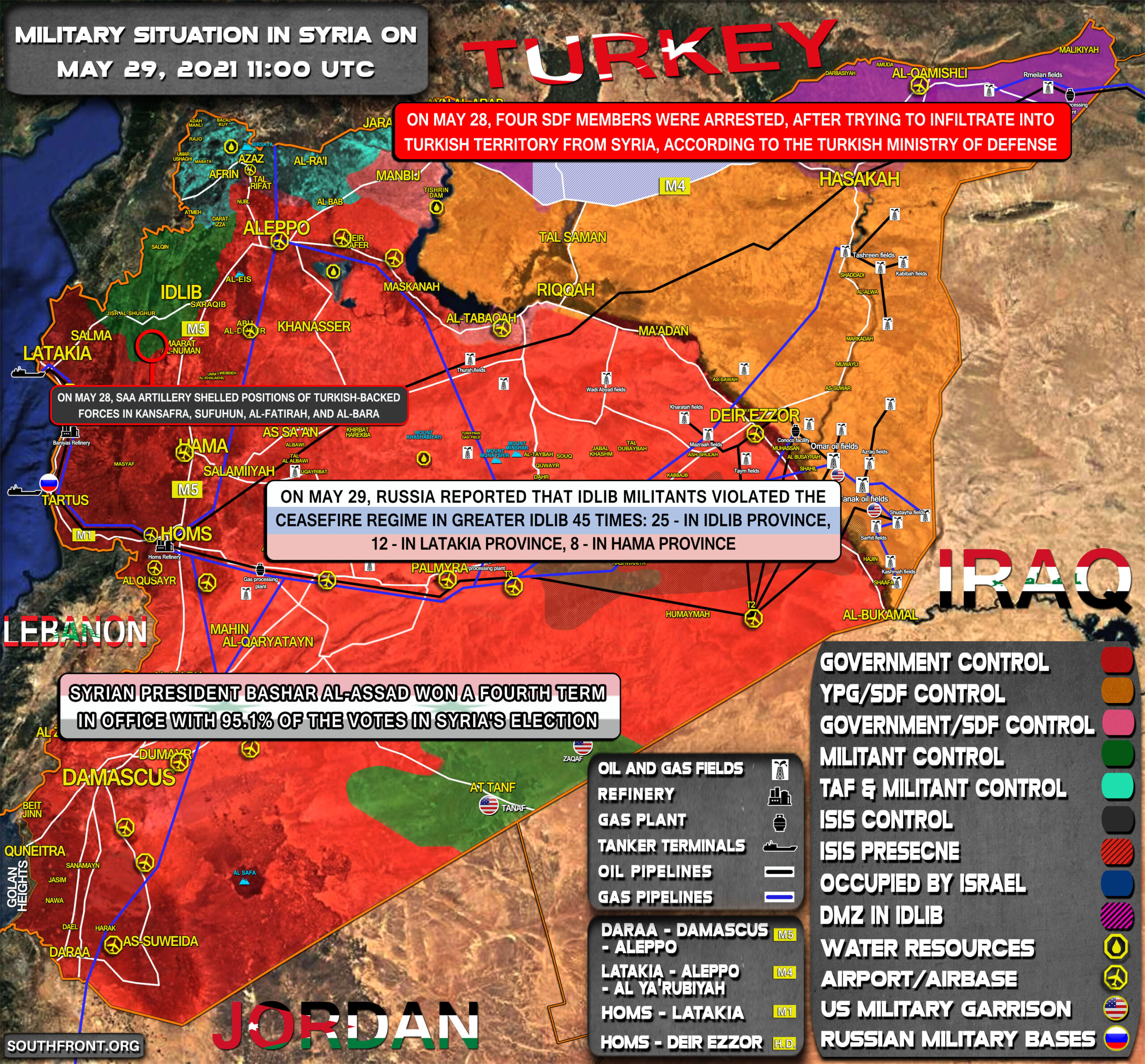 Military Situation In Syria On May 29, 2021 (Map Update)