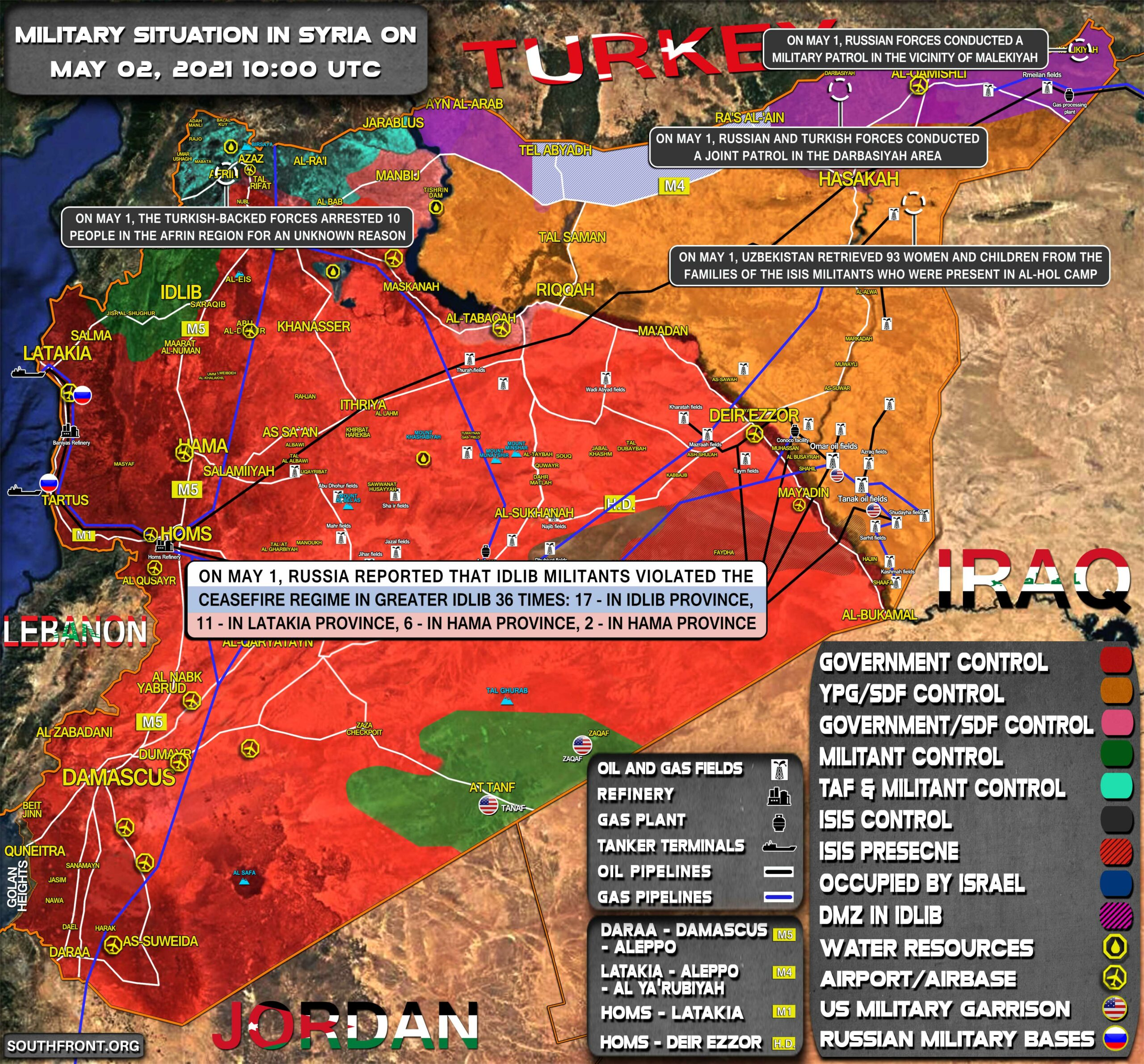 Military Situation In Syria On May 2, 2021 (Map Update)