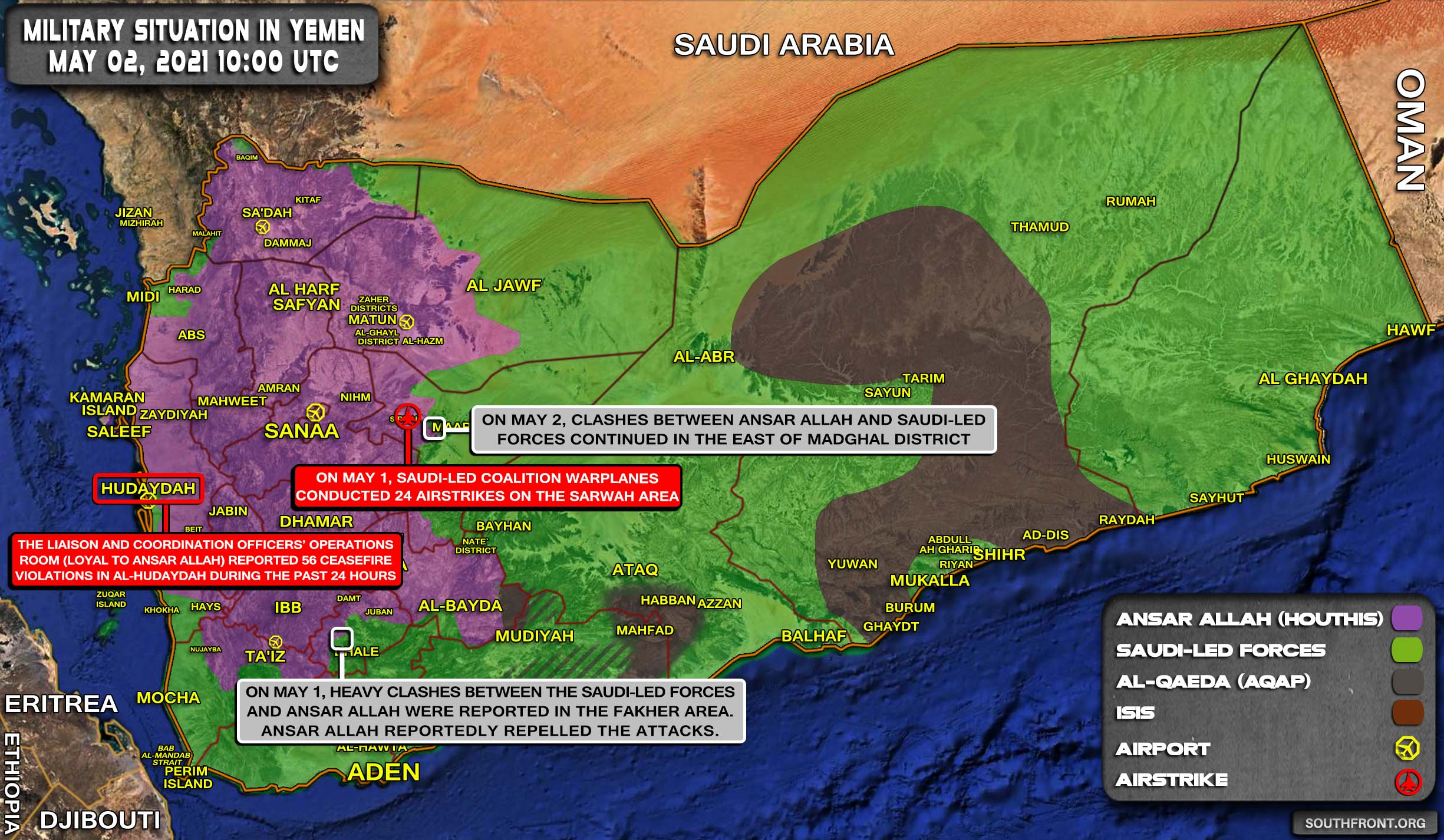 Military Situation In Yemen On May 2, 2021 (Map Update)