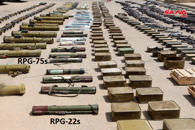 Syrian Authorities Showcased Weapons, Including Anti-Tank & Anti-Aircraft Missiles, Uncovered In Daraa (Video, Photos)