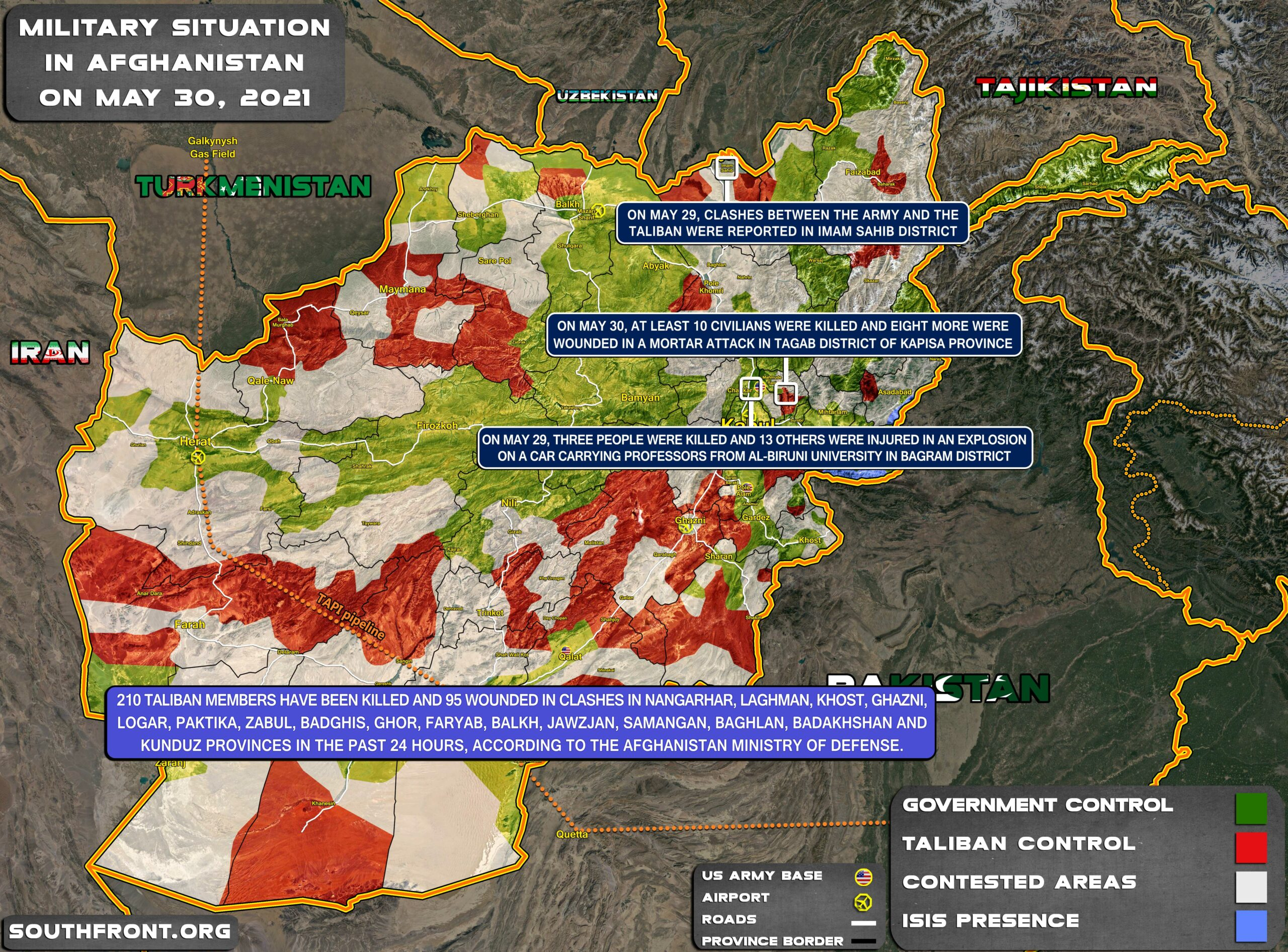 Military Situation In Afghanistan On May 30, 2021 (Map Update)