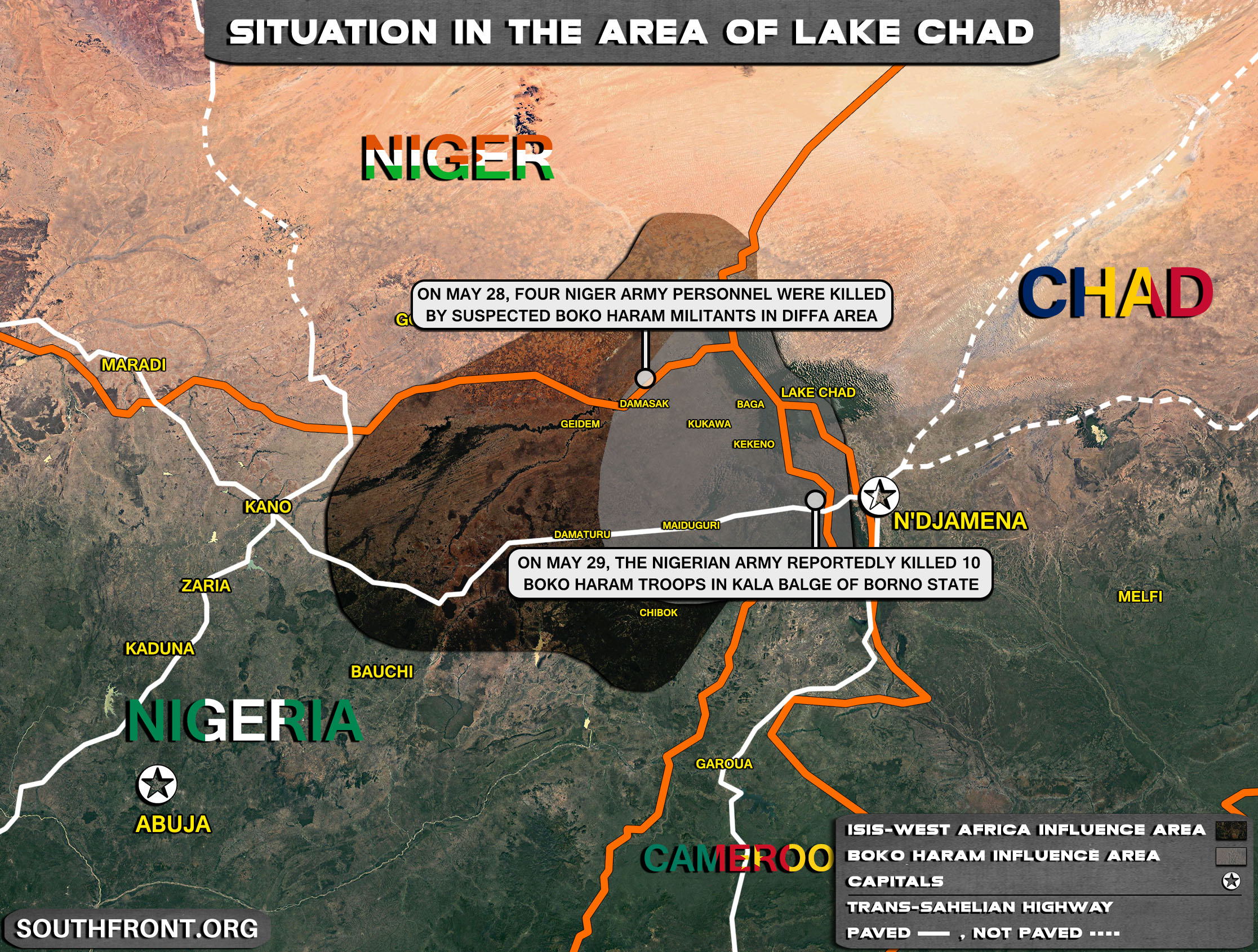Situation In The Lake Chad Area On May 30, 2021 (Map Update)