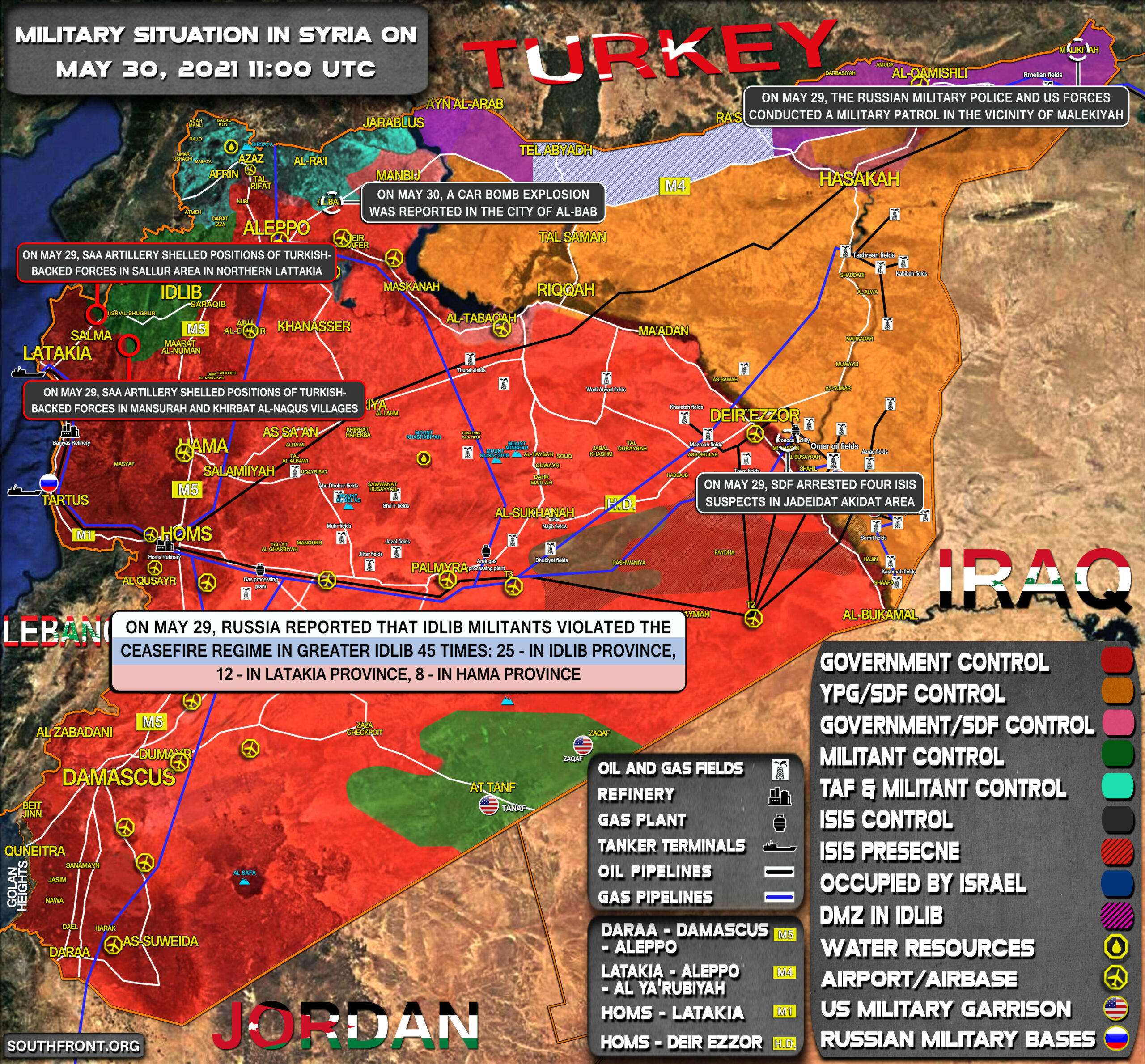 Military Situation In Syria On May 30, 2021 (Map Update)