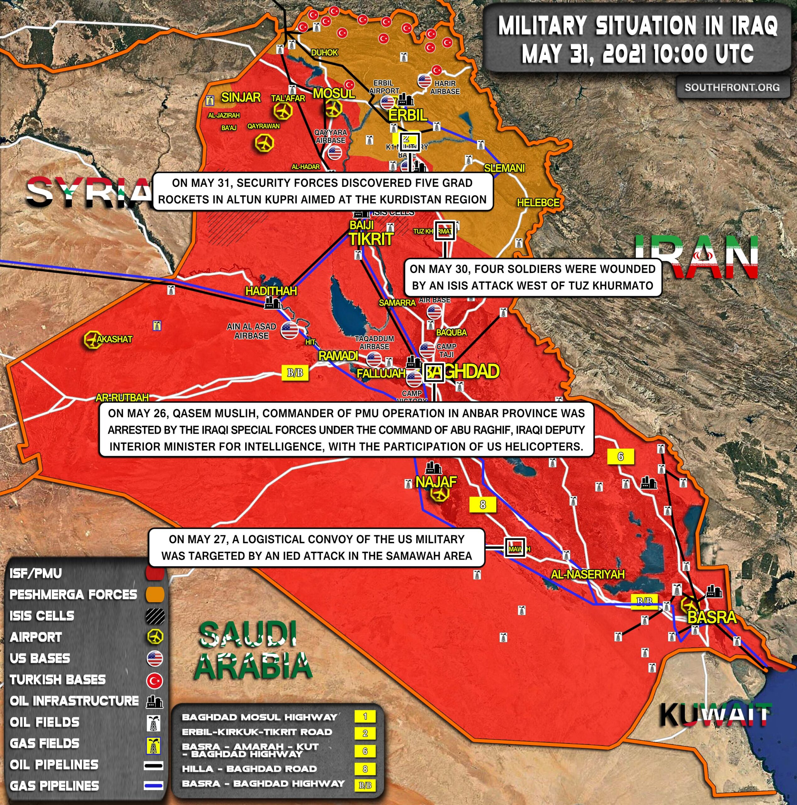 Military Situation In Iraq On May 31, 2021 (Map Update)