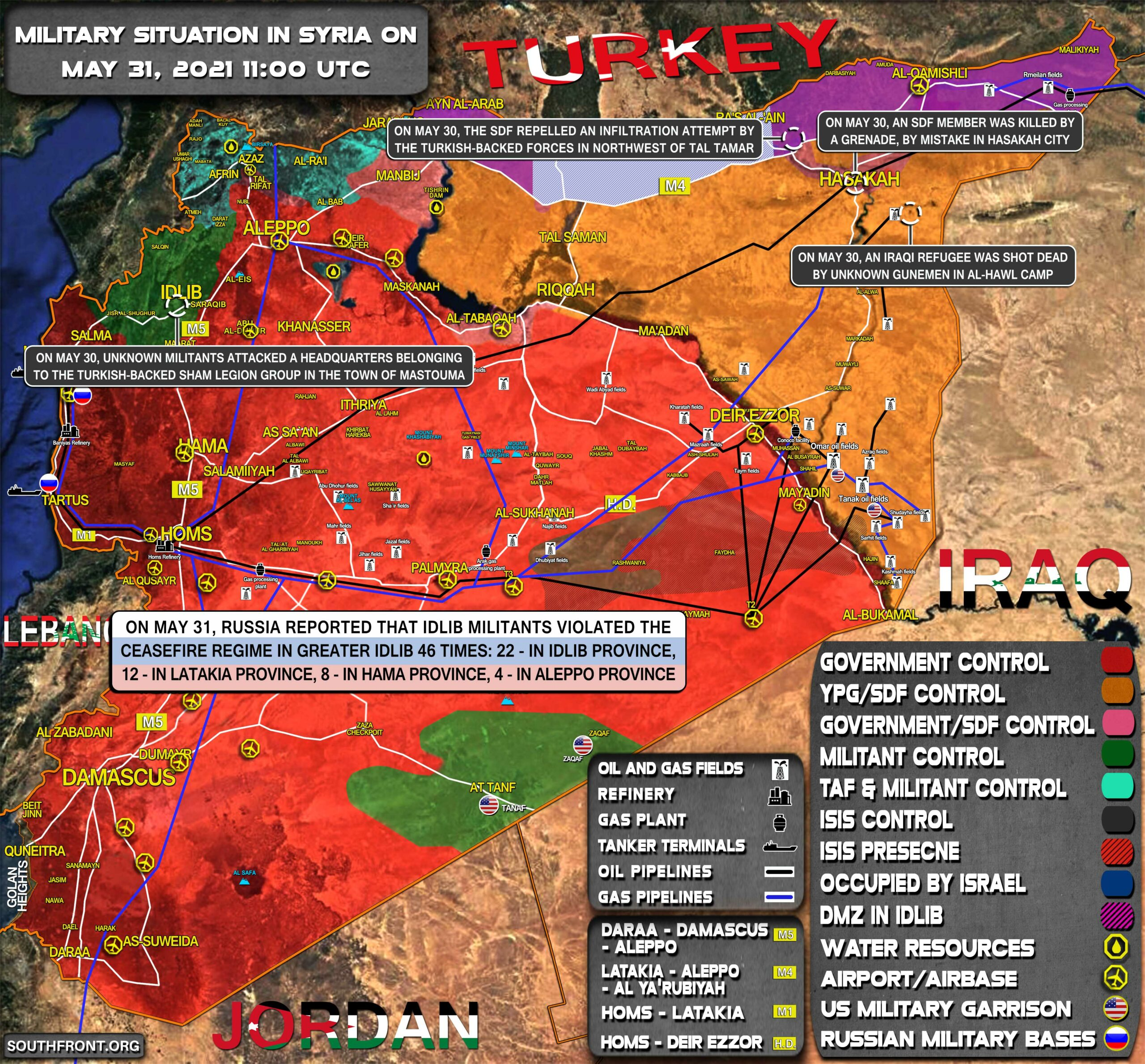 Military Situation In Syria On May 31, 2021 (Map Update)