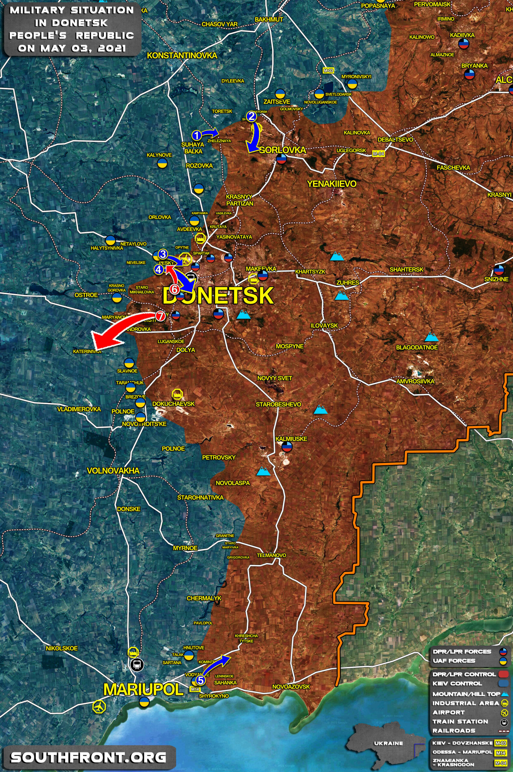 Military Situation In Donetsk People's Republic On May 3, 2021 (Map Update)