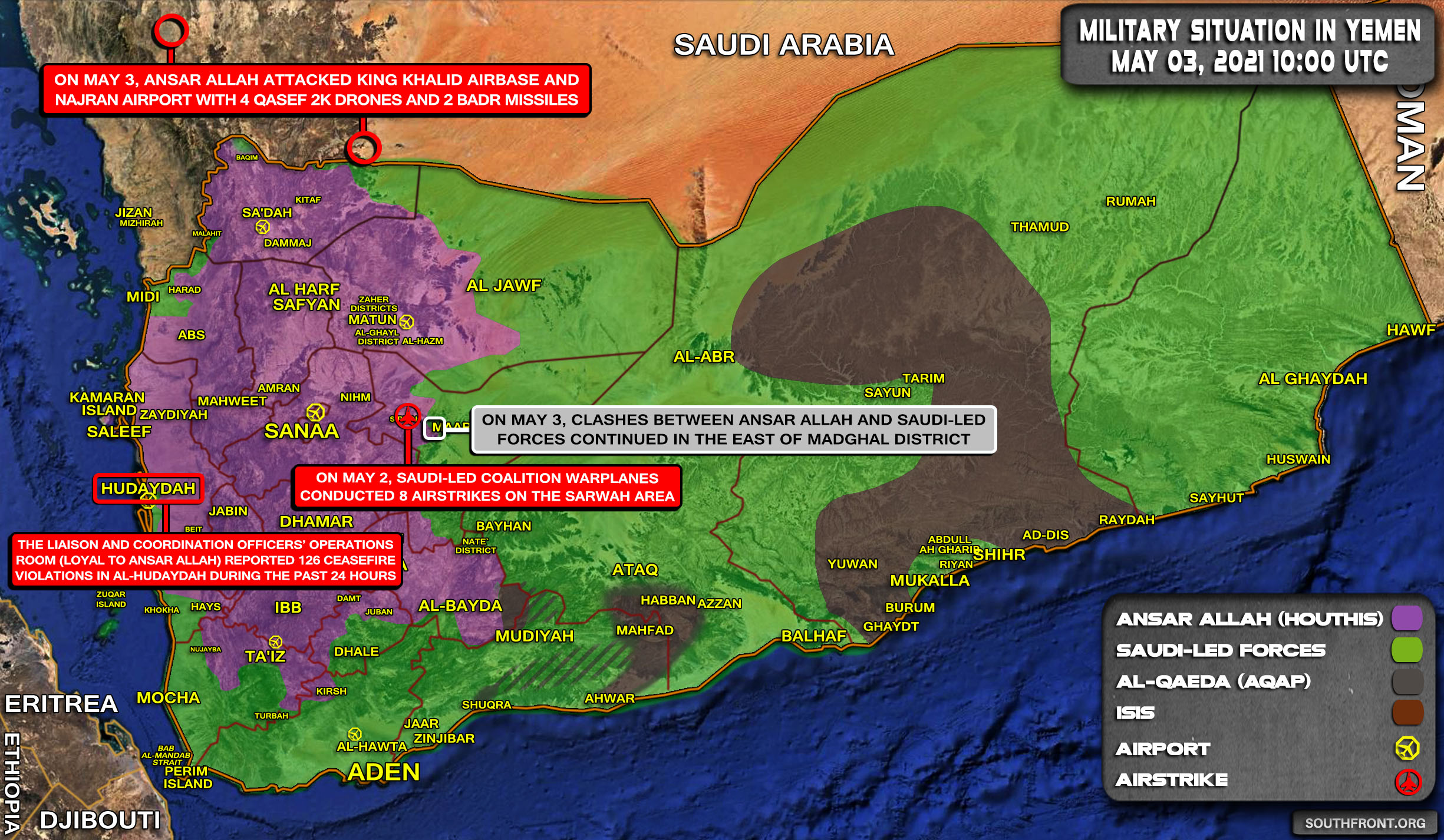 Military Situation In Yemen On May 3, 2021 (Map Update)